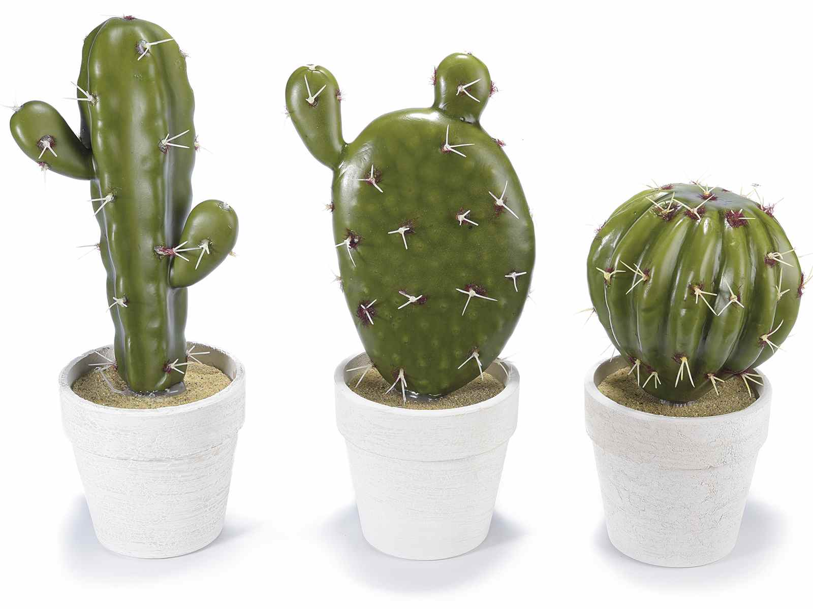 Cactus artificial con maceta art from italy for Cactus enanos por mayor