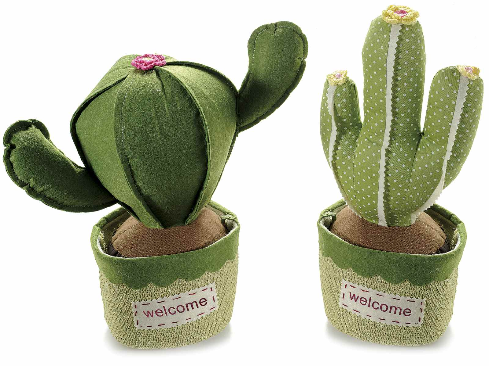 Sujetapuertas cactus tela art from italy for Cactus enanos por mayor