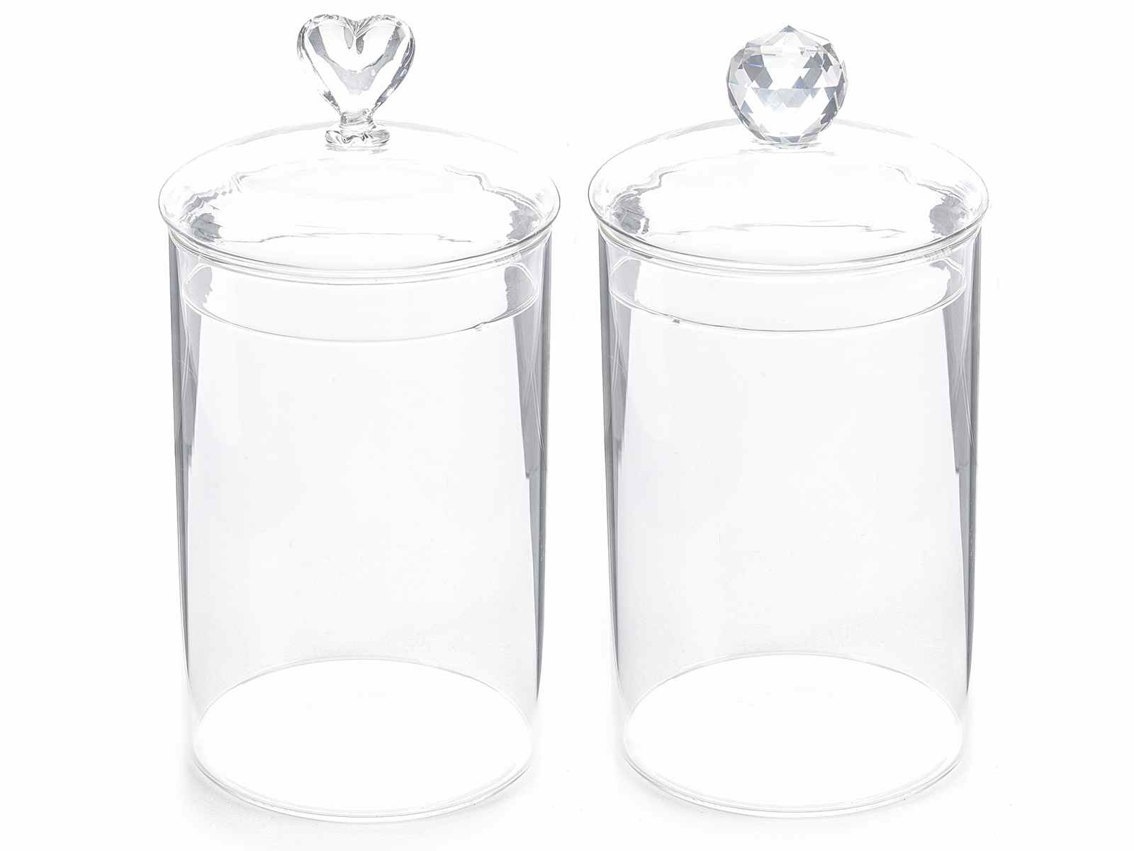 Tarro de vidrio transparente con tapa art from italy - Vidrio plastico transparente precio ...