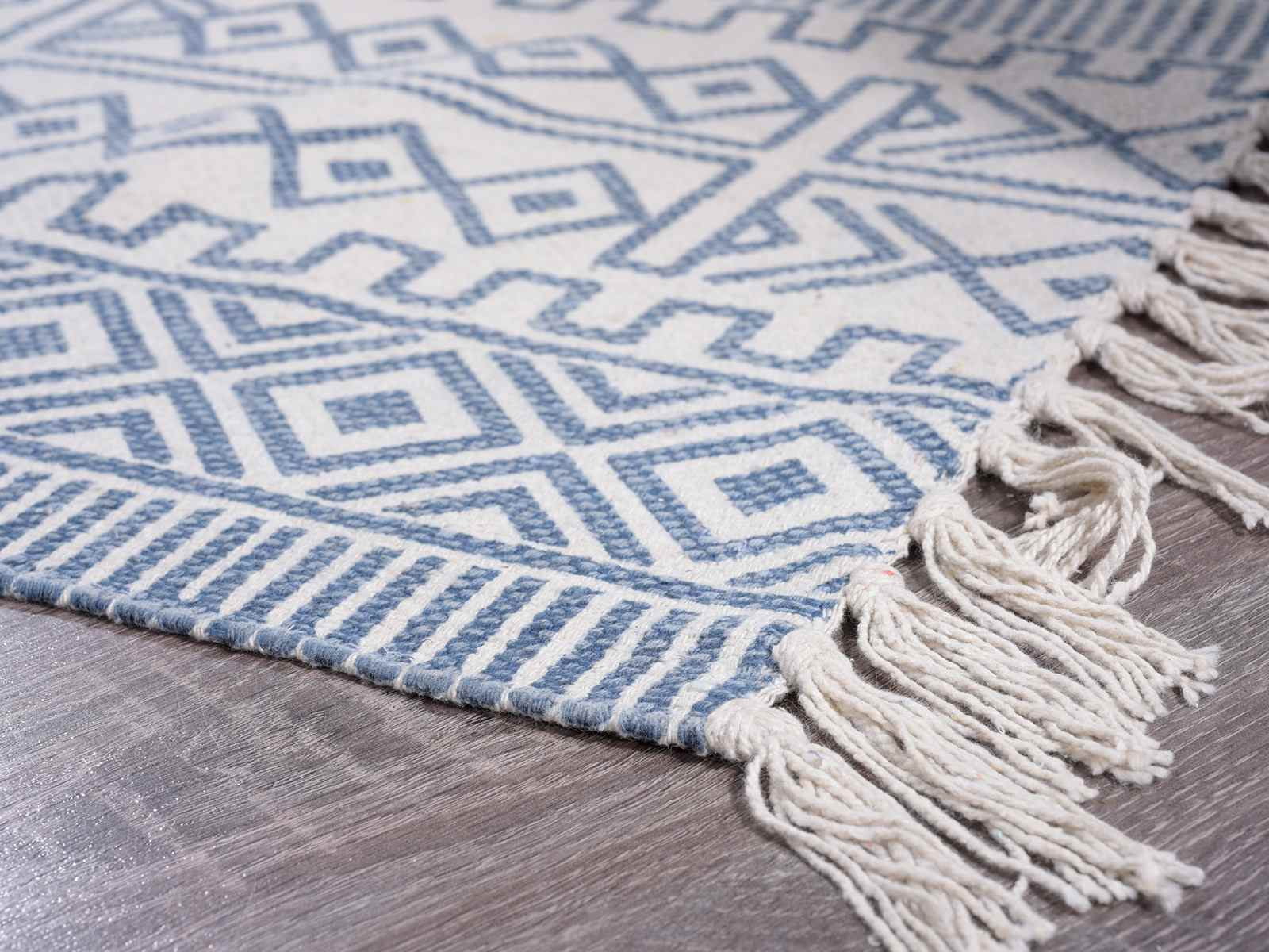 Alfombras azules alfombra moderno dibujo estampado a - Alfombra algodon ...