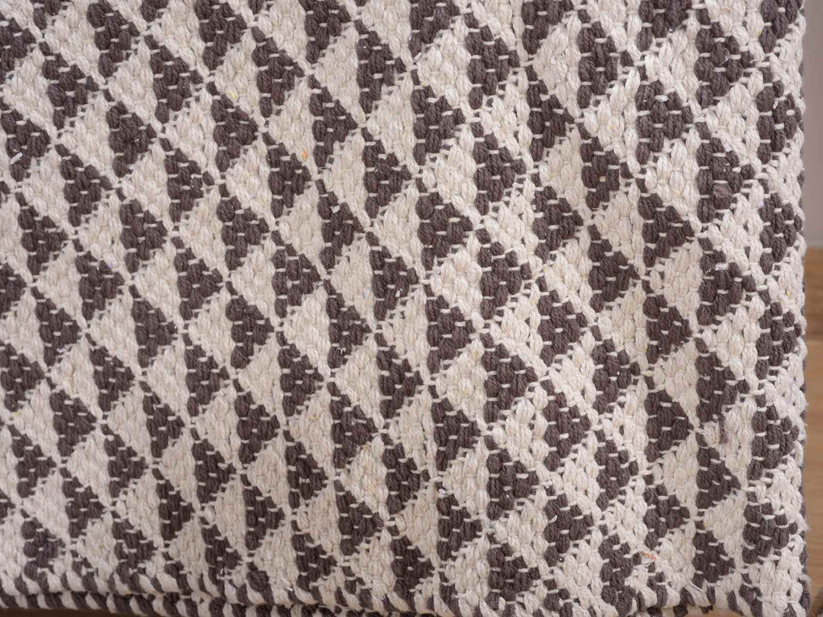 Alfombra de algodon con triangulos bicolor - Alfombras de algodon ...