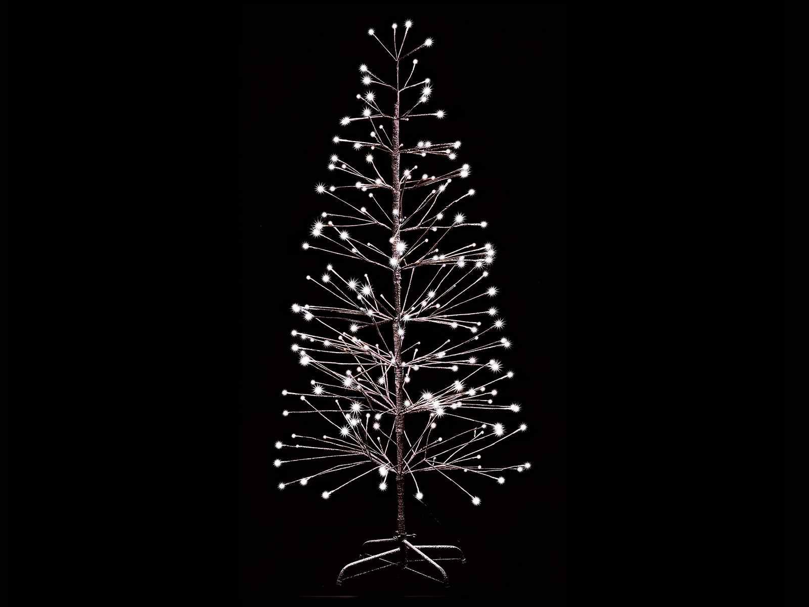 Arbol de navidad efecto nevado c 232 luces led for Luces led arbol navidad