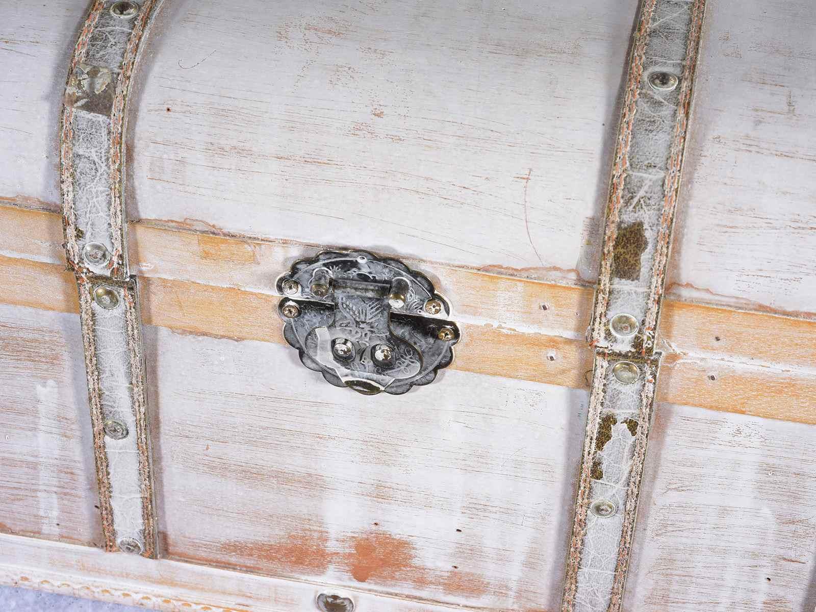 Legno Bianco Vintage : Set valigie a baule vintage in legno anticato bianco