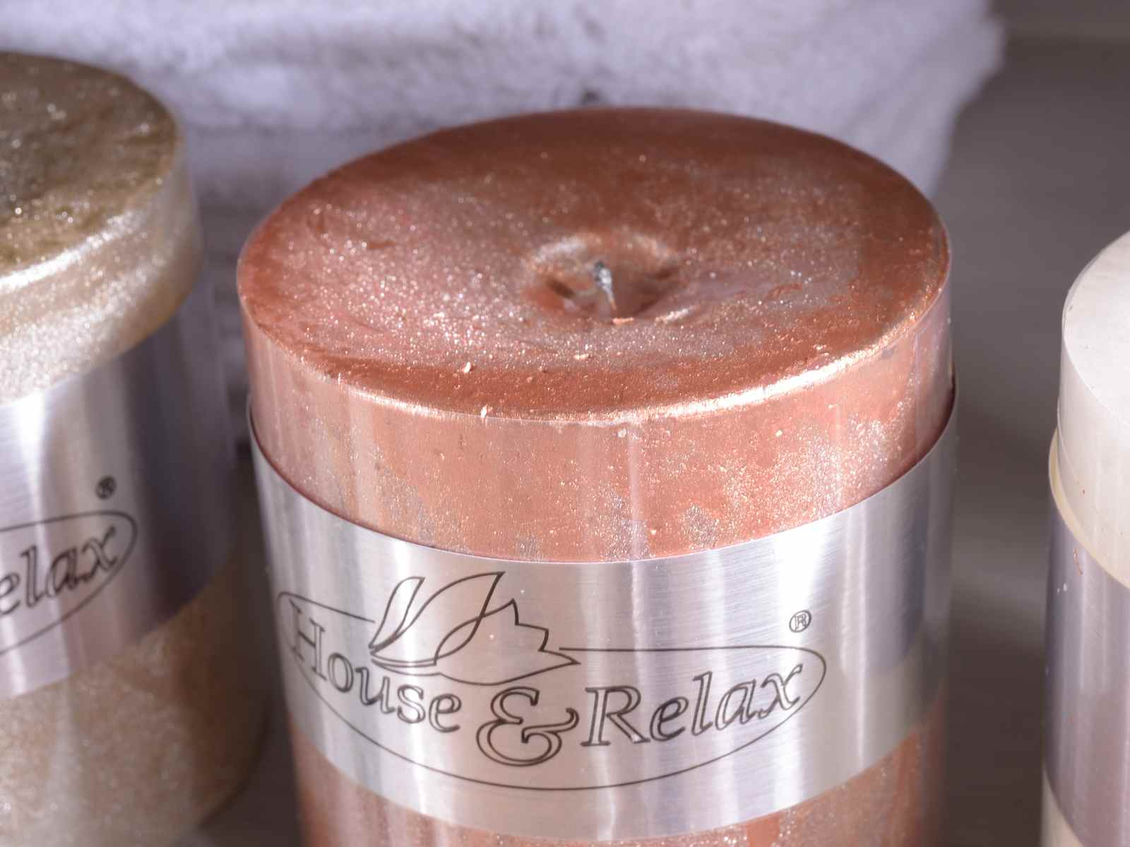 Bougie Cylindrique Petite Effet M Tallique Glitter Art From Italy