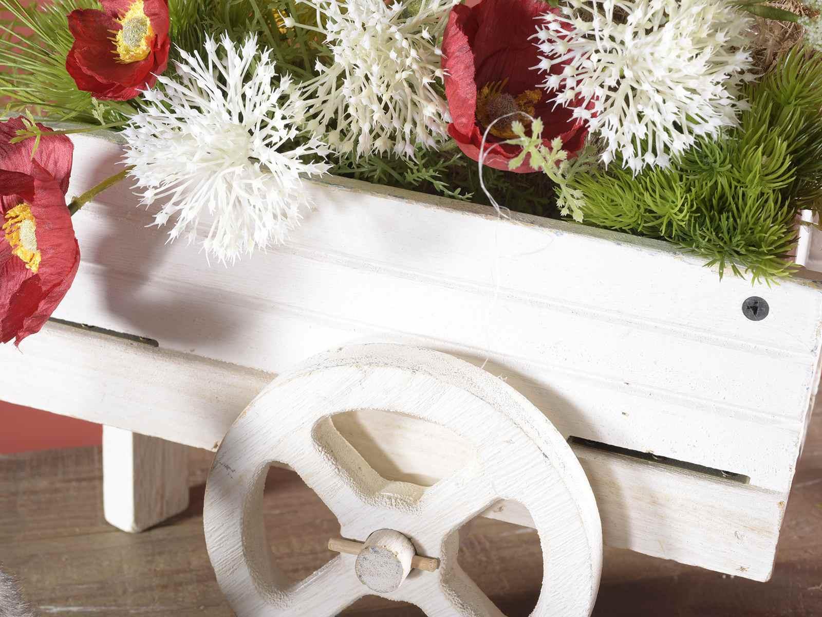 Brouette d corative en bois de couleur art from italy - Brouette bois decorative ...