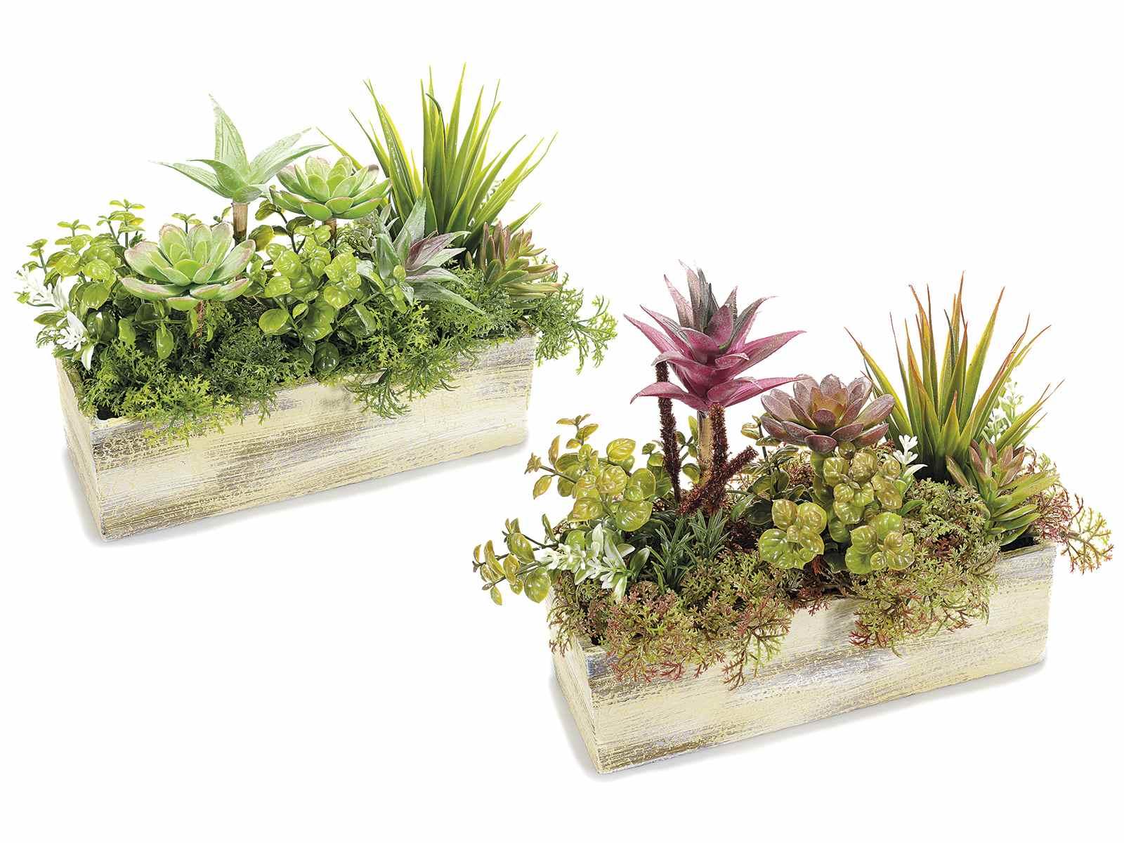 Composizione di piante grasse artificiali decorative in for Piante grasse in casa