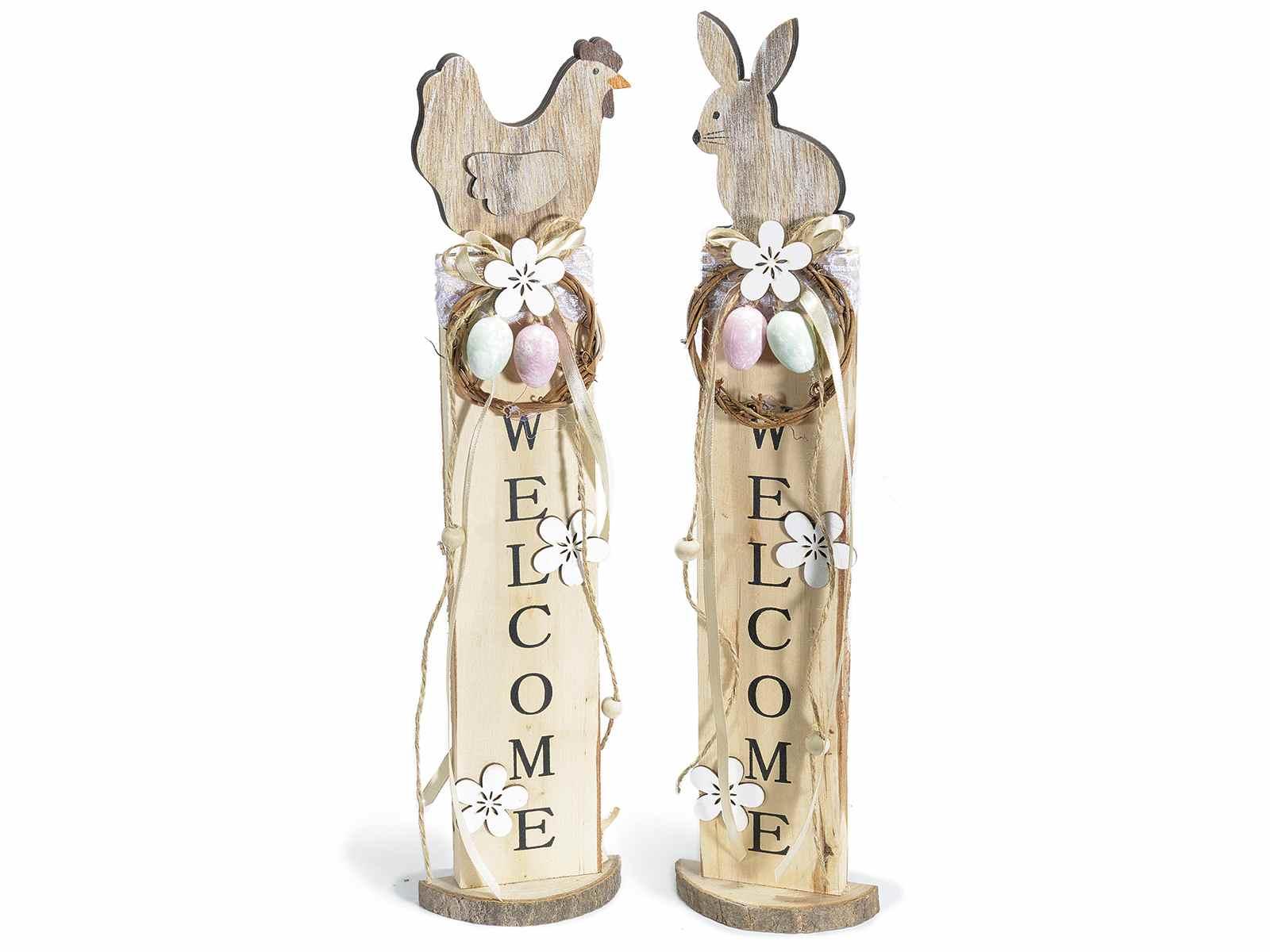 D coration de paques en bois avec deco welcome for Decoration exterieur pour paques