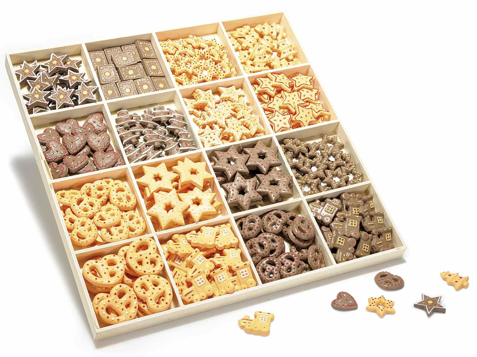 scatola 270 decorazioni in resina biscotti con biadesivo (55.25.68 ... - Decorazioni Con Biscotti