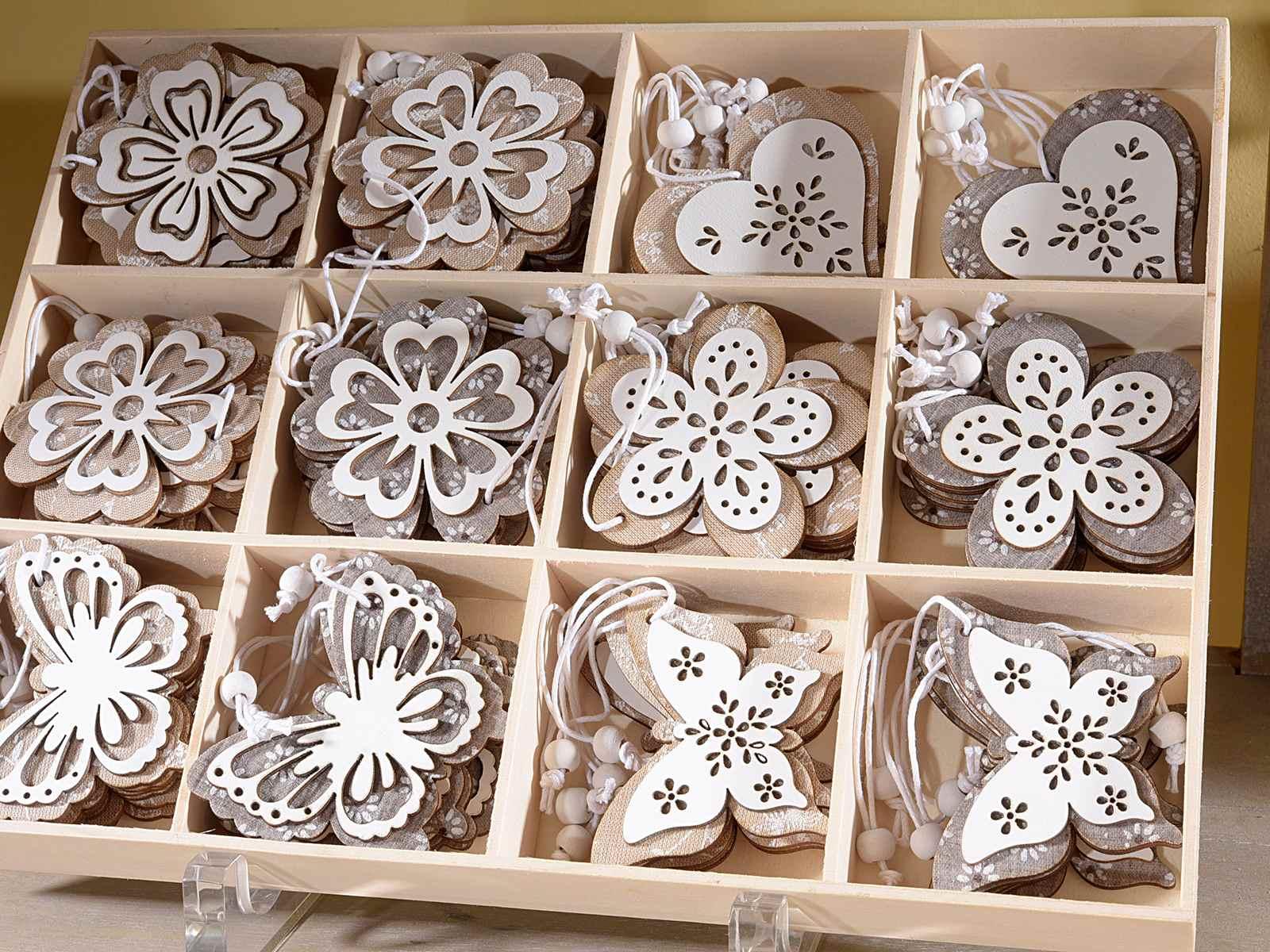 Espo 72 decorazioni in legno e stoffa da appendere - Decorazioni legno ...