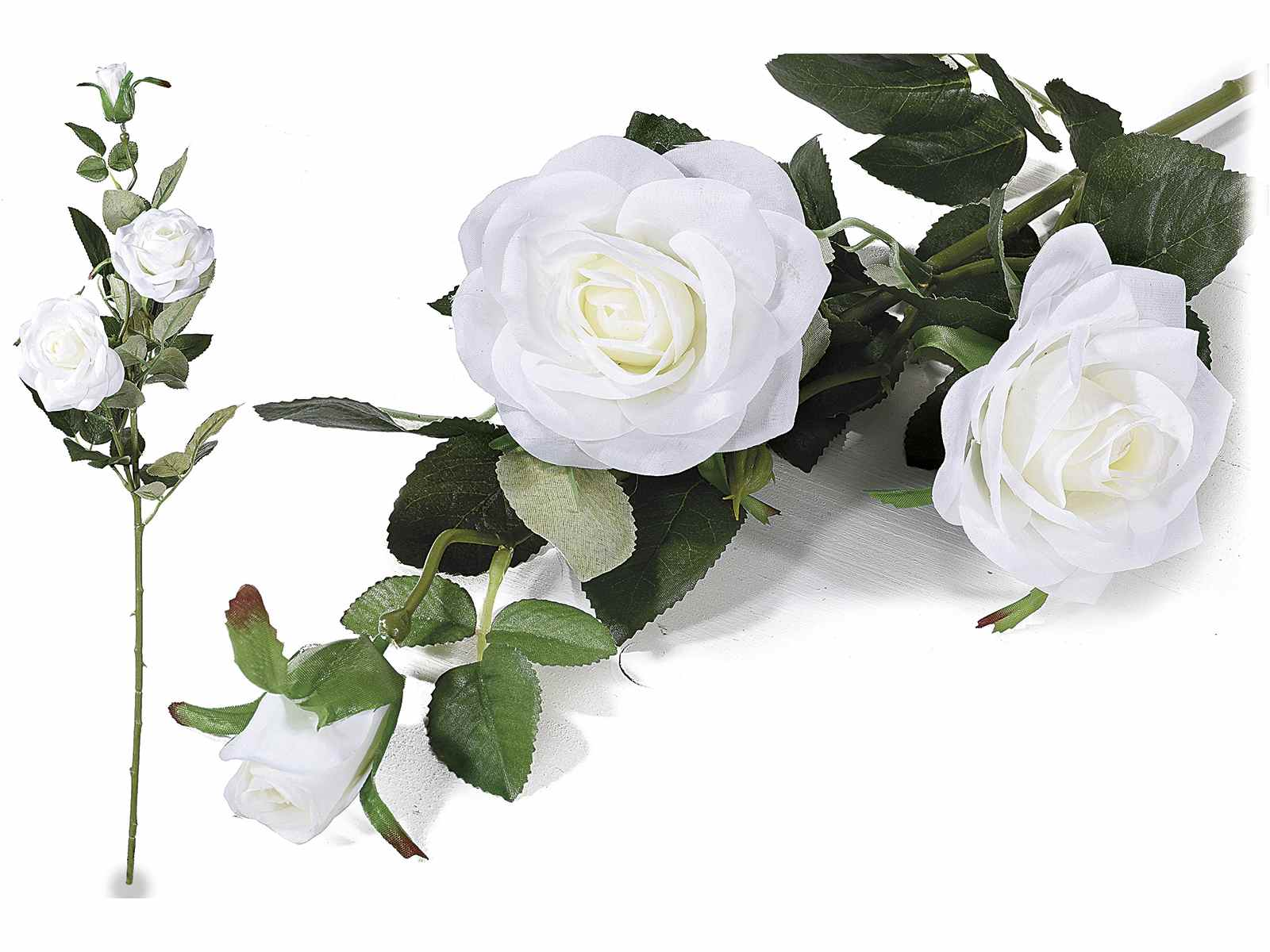 Branche de roses artificielles blanches art for Roses artificielles