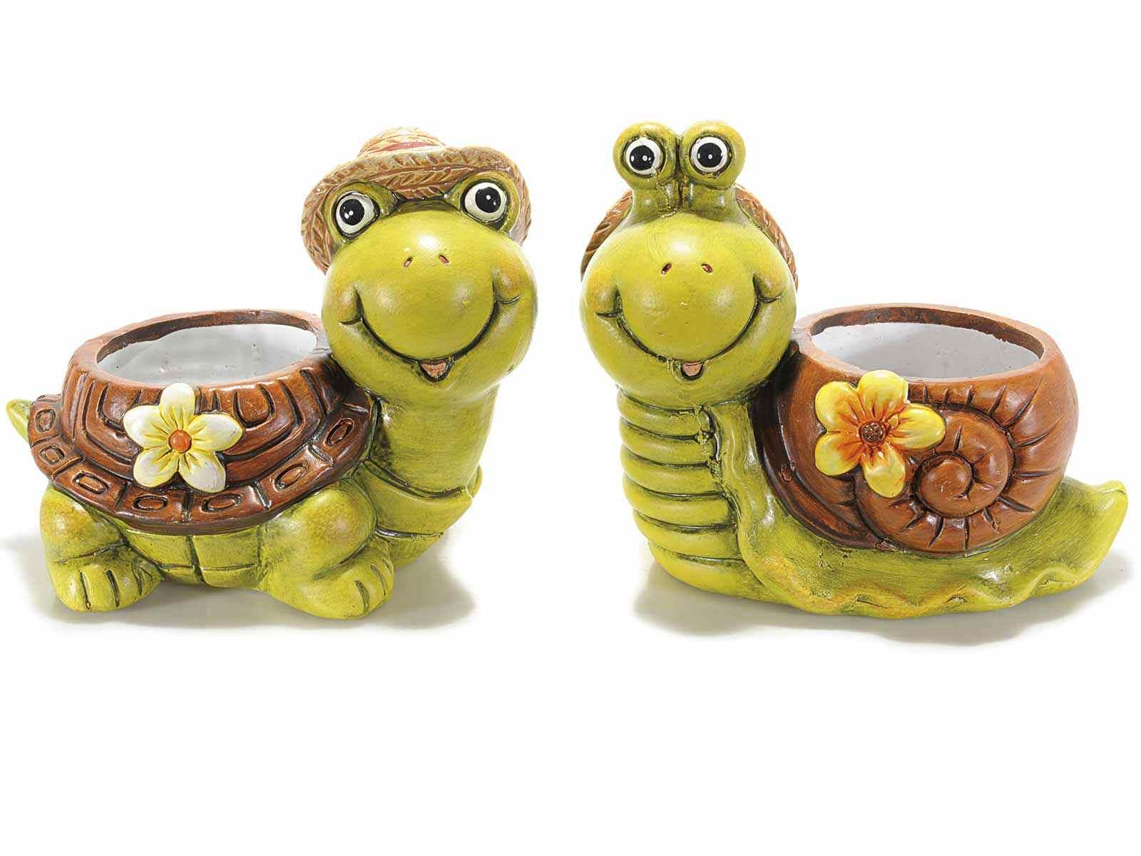 Florero en forma de tortuga/caracol de ceramica de color (71.29.16 ...
