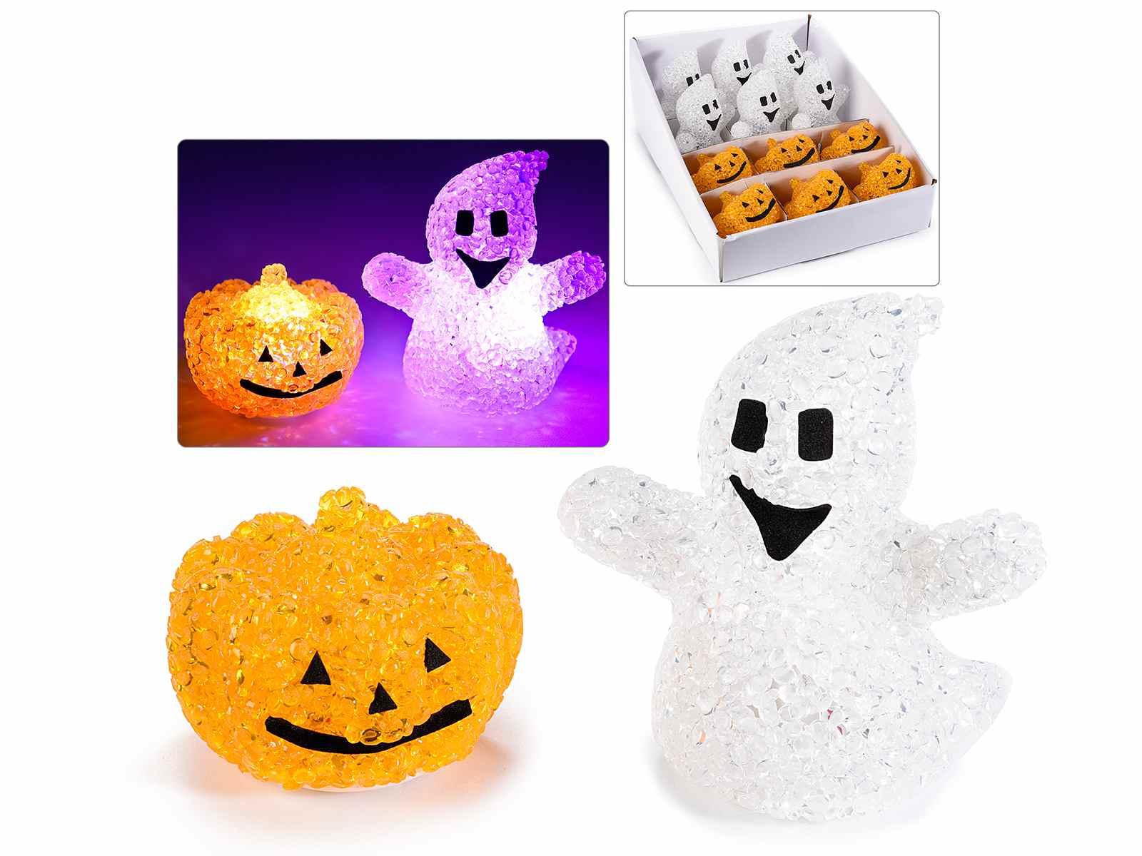 Halloween Deko Mit Licht Im Display Mit 12 Stck 54 38 08 Art From Italy