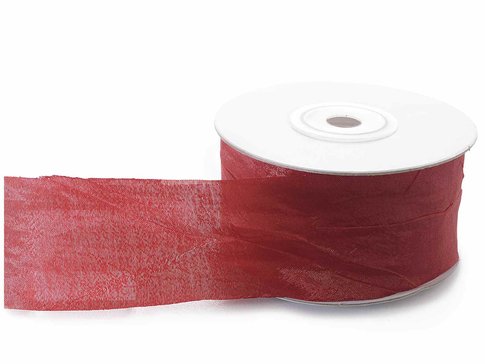 Rote polyester band zerknittert wirkung schnittkan for Rote wandfarbe wirkung