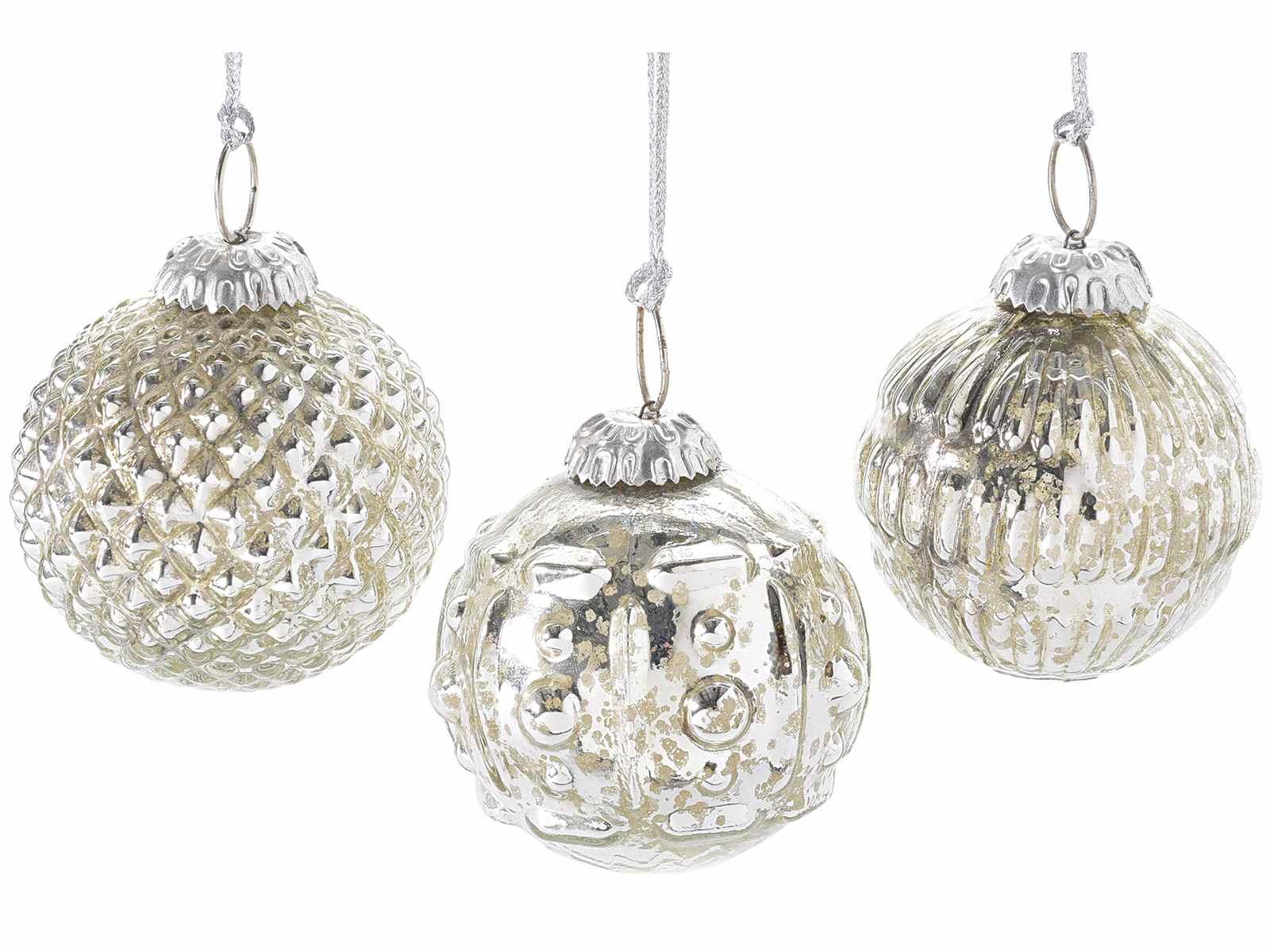 Silberne Weihnachtskugeln.Silberne Hangende Weihnachtskugeln 80 13 78 Art From Italy