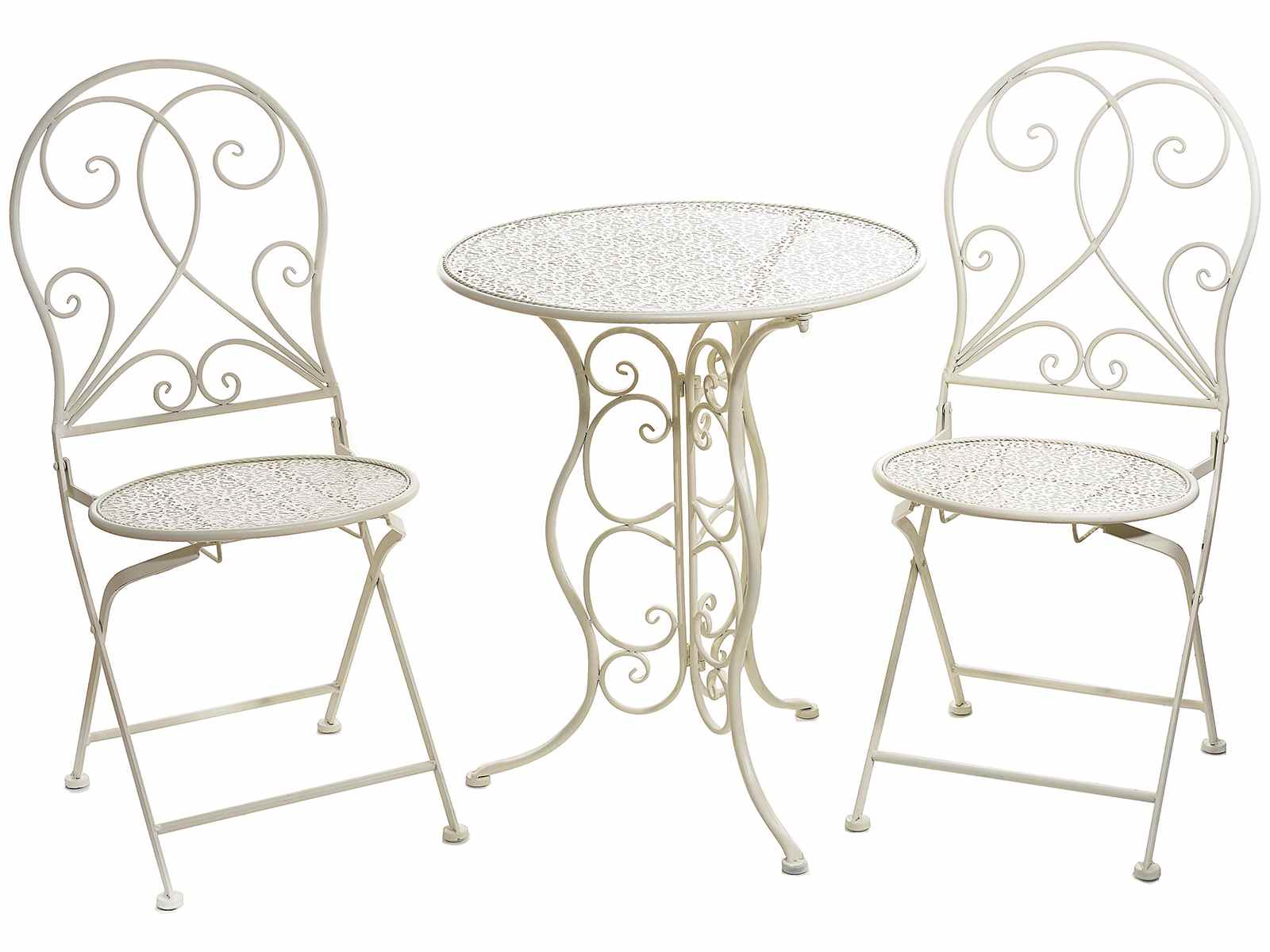 Sedie Da Giardino In Metallo.Set Tavolo E 2 Sedie Da Giardino In Metallo Traforato 53 20 50