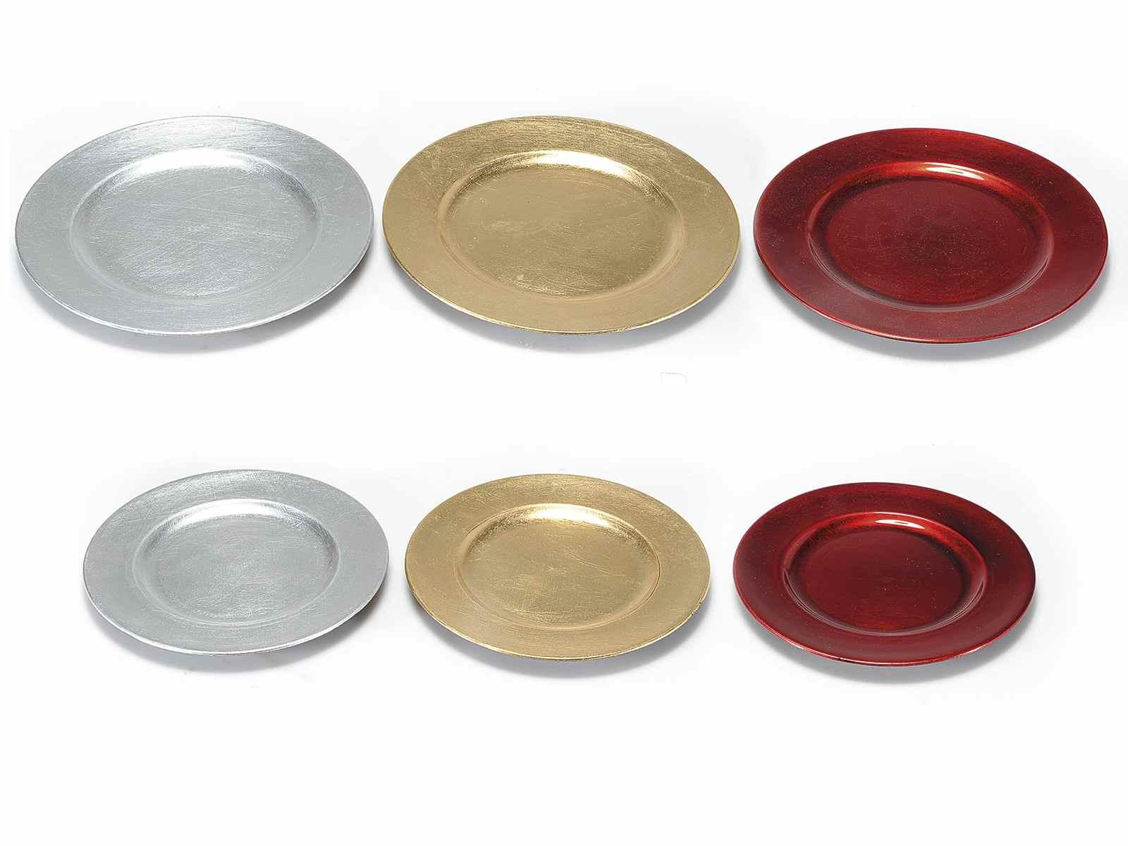 Set 2 assiettes decoratives rondes en plastiques rigide (54.33.93 ...