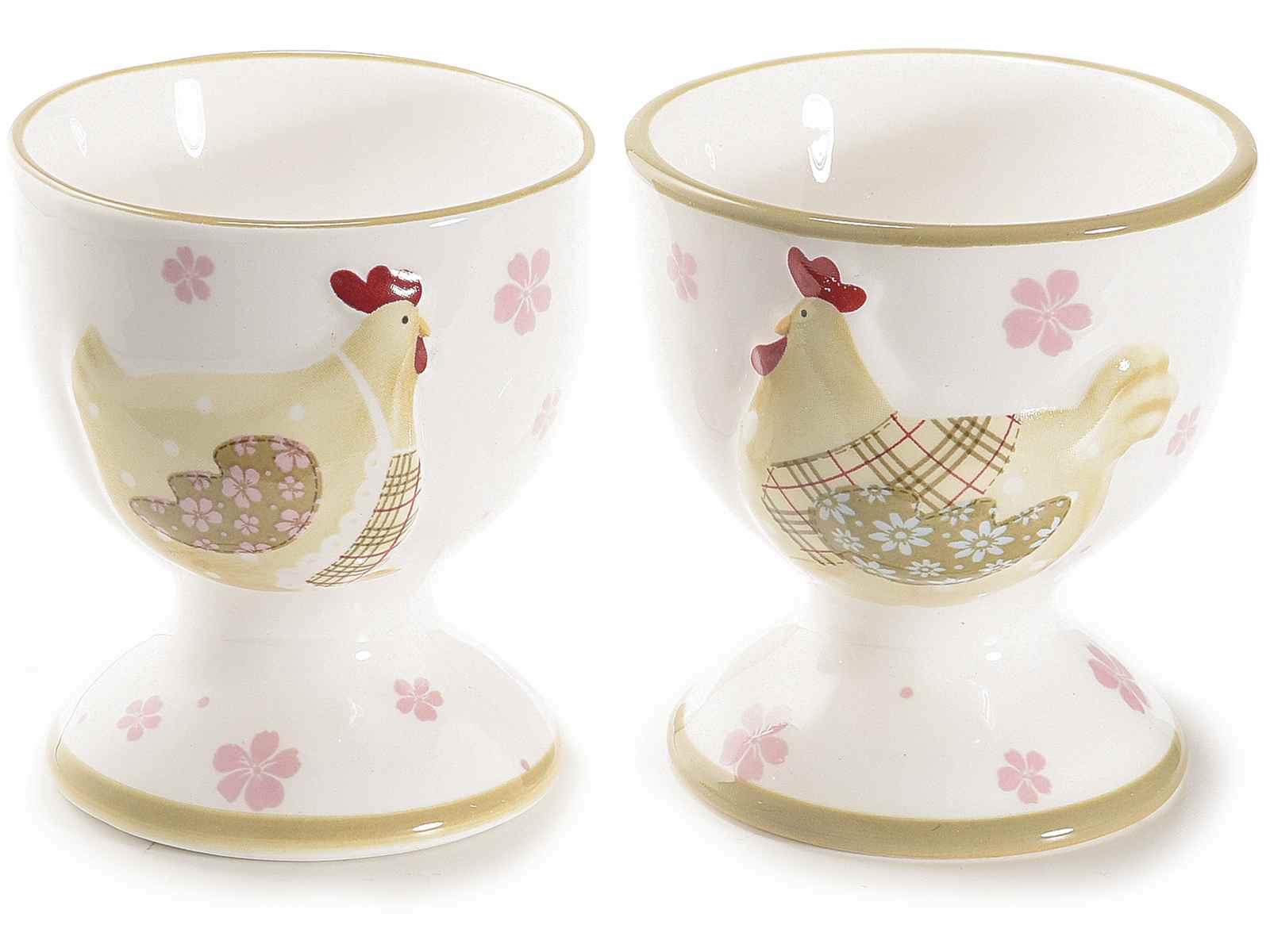 Coquetier En Ceramique De Couleur Avec Decoration Poule 71 34 59