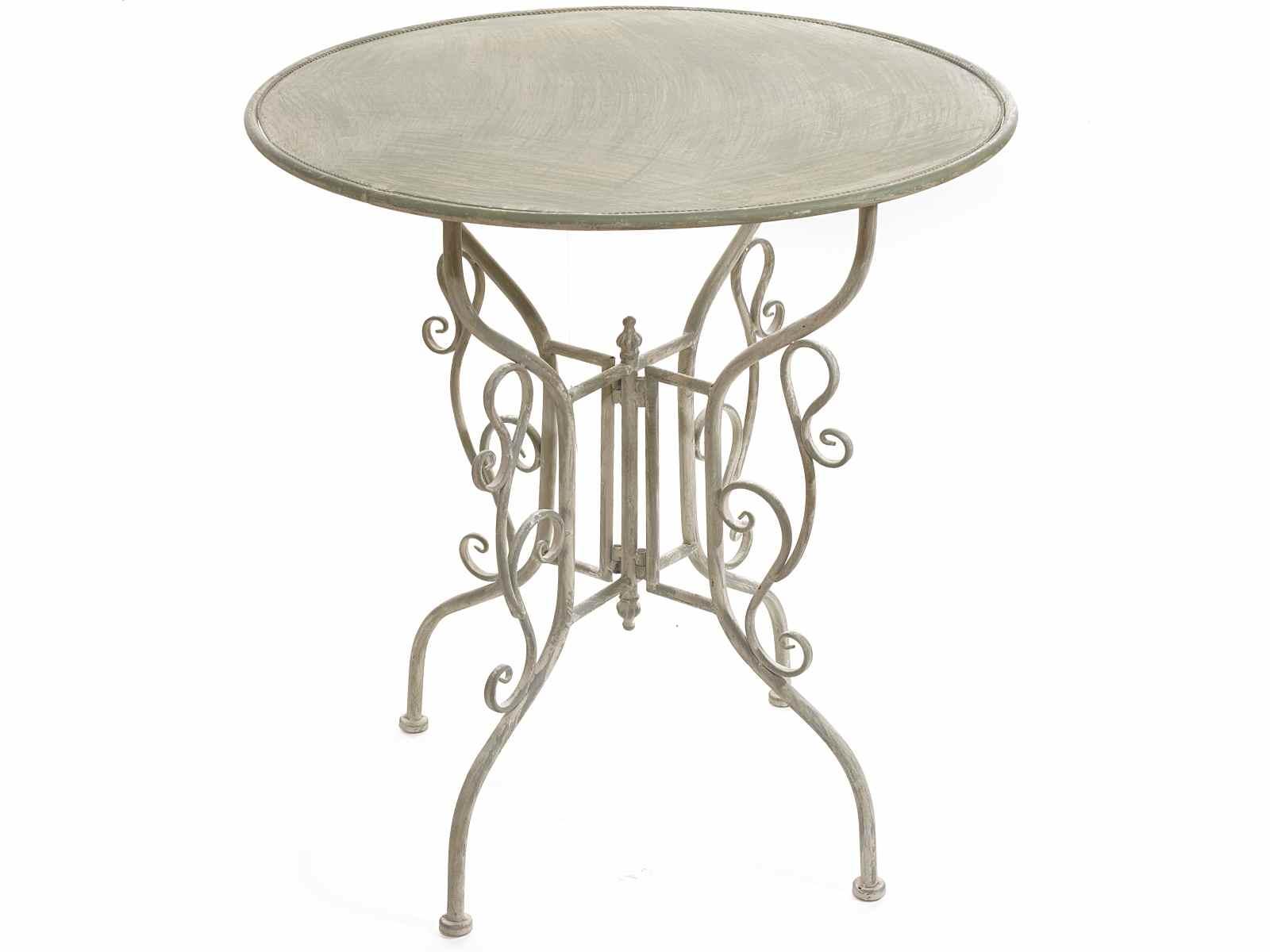 Table de jardin en métal avec garnitures vertes (53.20.55) - Art ...