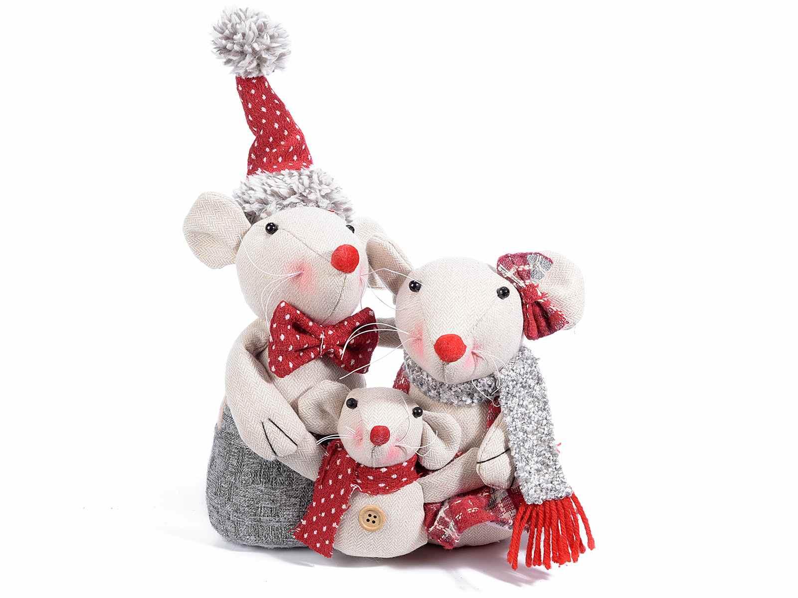 Paille De Fer Souris déco maison famille de souris (16.03.59) - art from italy