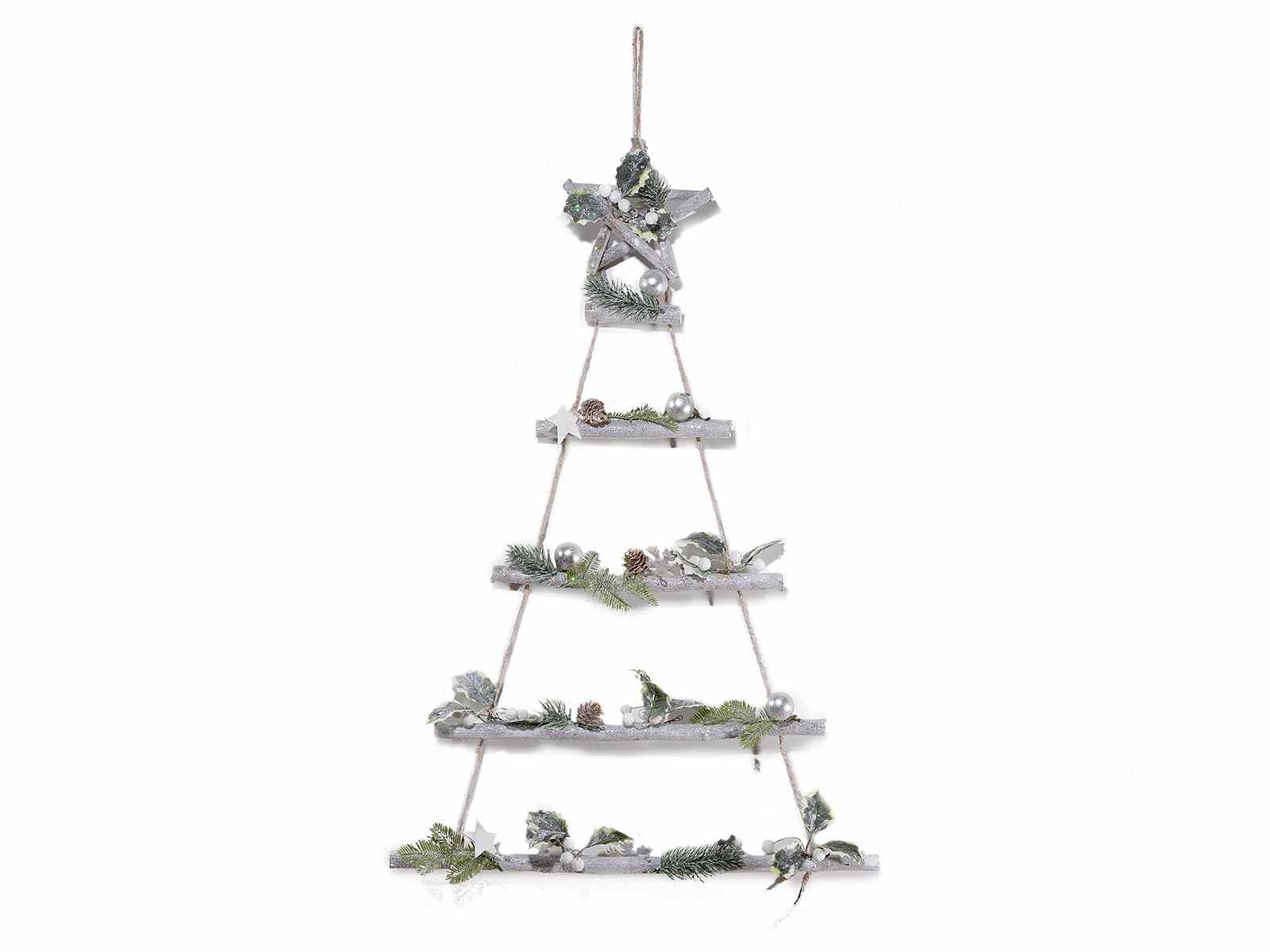 Palline Di Natale Con Rametti dettagli su albero di natale legno rami corda decorazione da appendere  shabby stella 50x75h