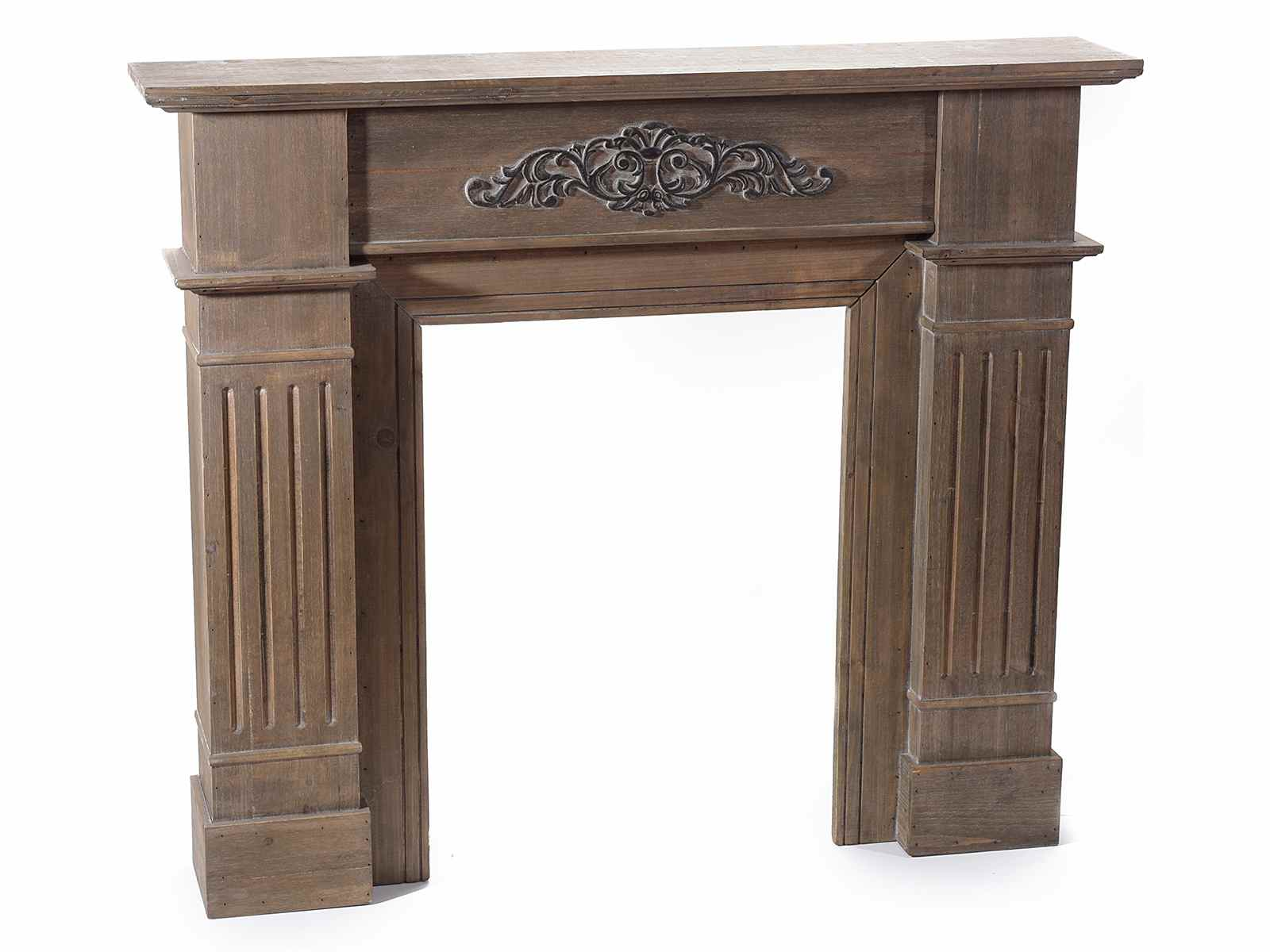 Legno Decorativo Per Camino caminetto frontale decorativo in legno naturale con rilievo