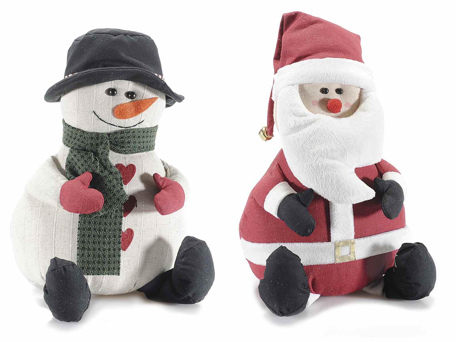 Favorito Fermaporta Babbo Natale/pupazzo di neve in stoffa imbottita (56.27  WT68