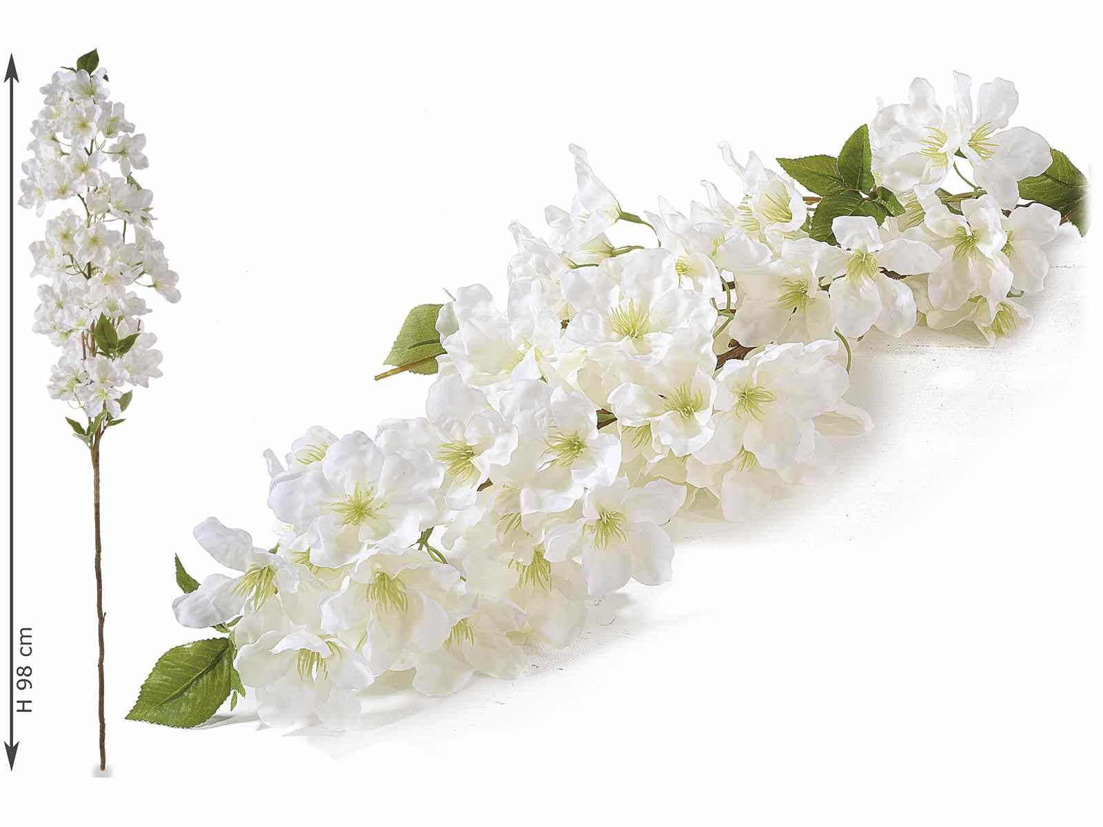 Rami Di Pesco Finti ramo di fiori di pesco artificiali bianchi artificiali