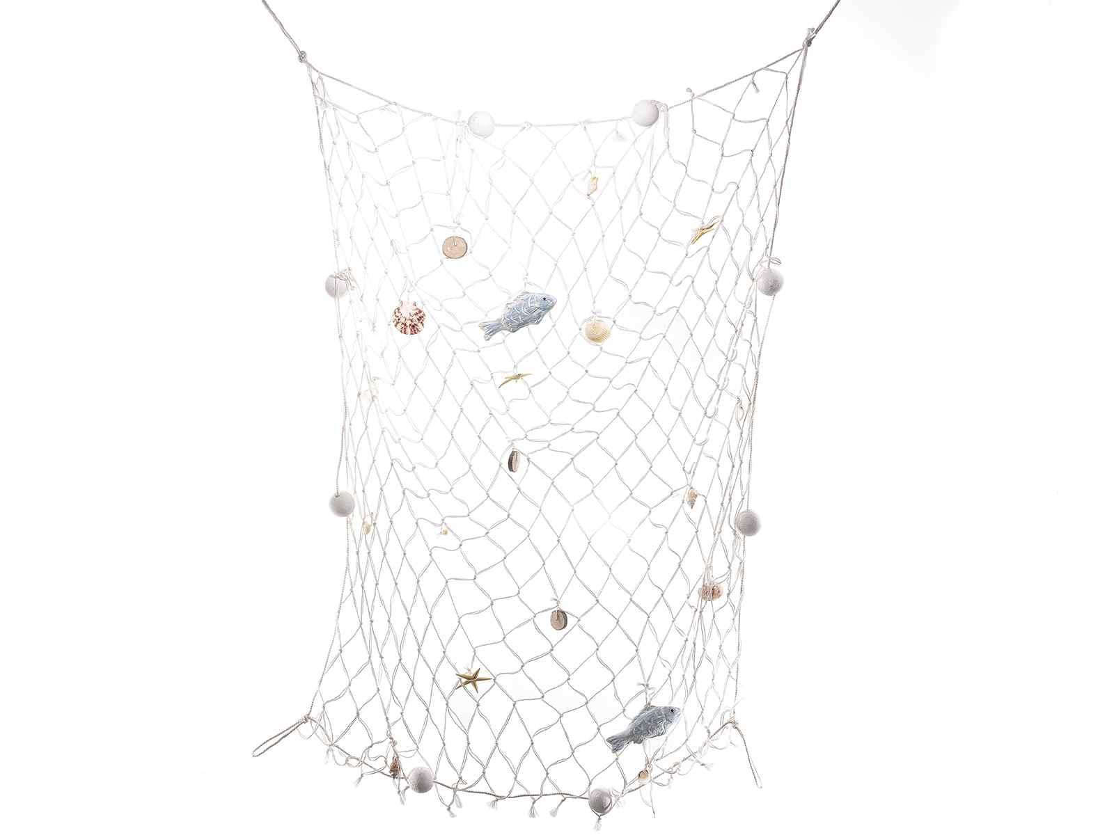 Rete da pesca in corda con decorazioni marine - Rete da pesca per decorazioni ...