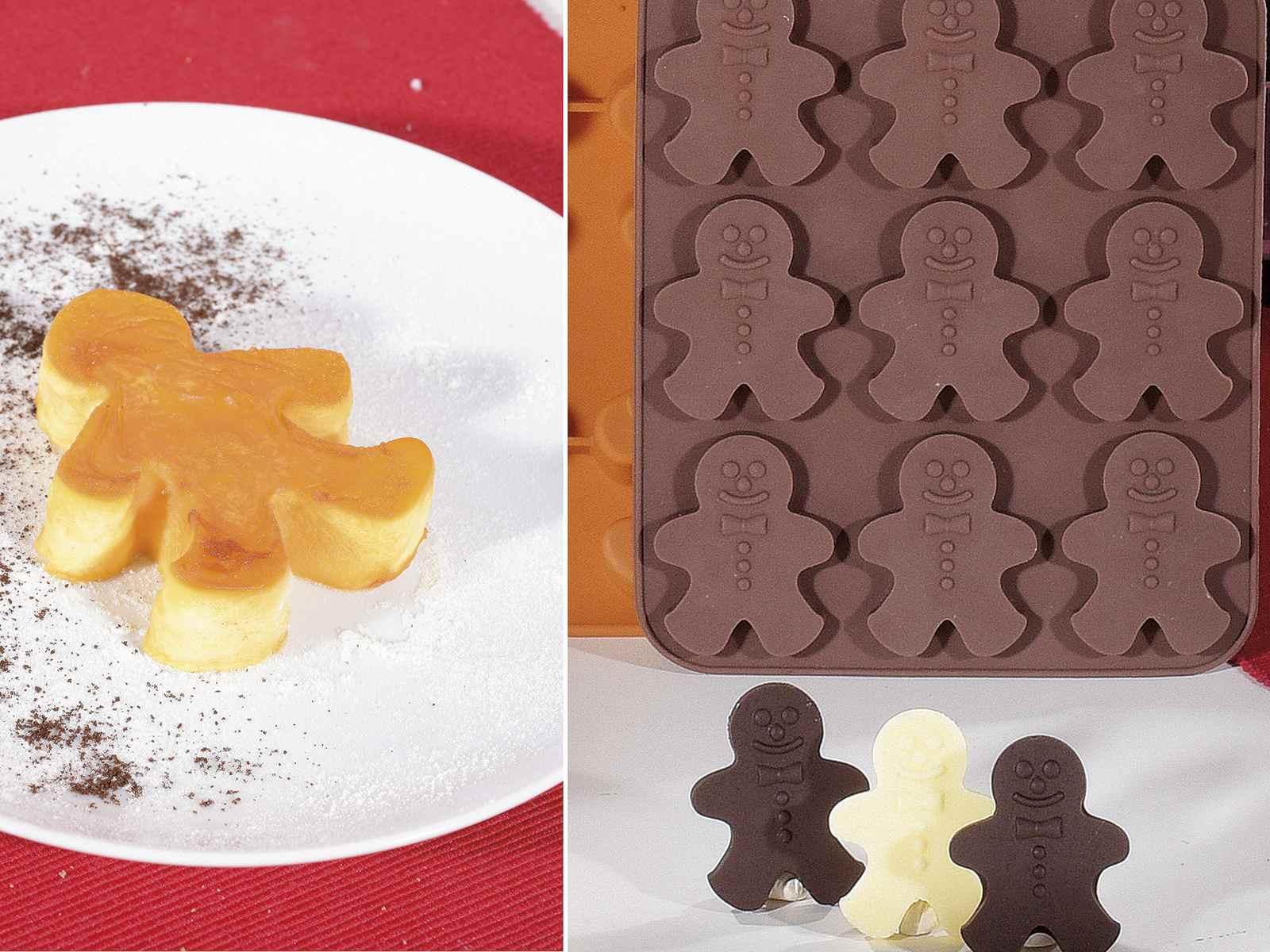 per decorare torte 2 stampi in silicone a forma di omino di pan di zenzero cioccolato caramelle cucina gelatina ecc. antiaderenti