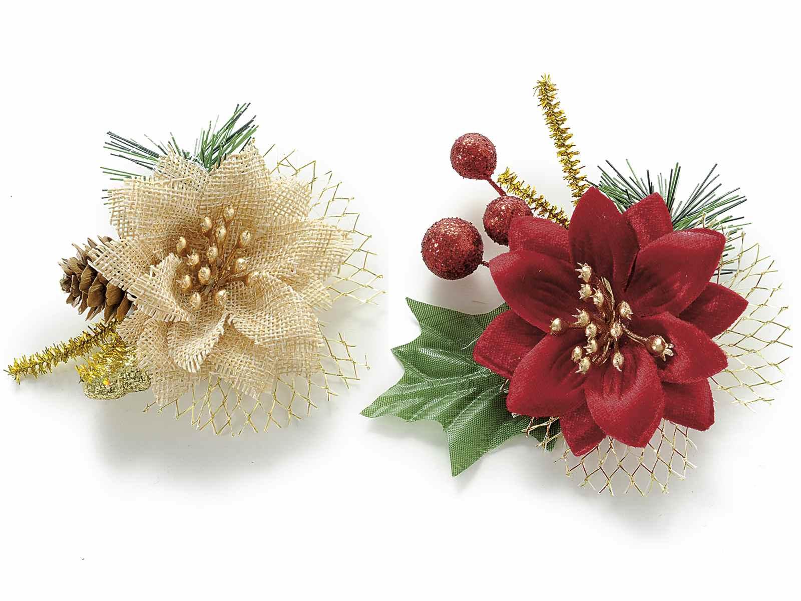 Stella Di Natale Artificiale.Stella Di Natale Artificiale Con Decori E Biadesivo 58 04