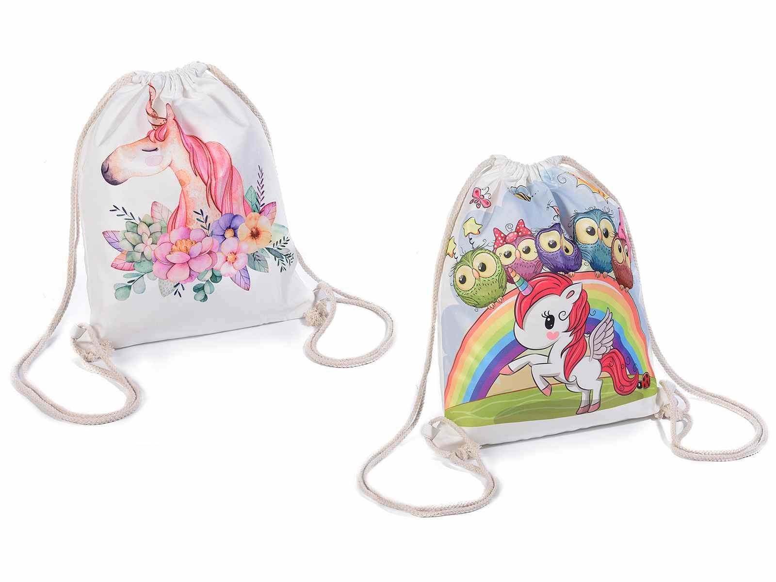 5466bc404 Mochila en forma de saco con motivo unicornio (16.04.72) - Art From ...