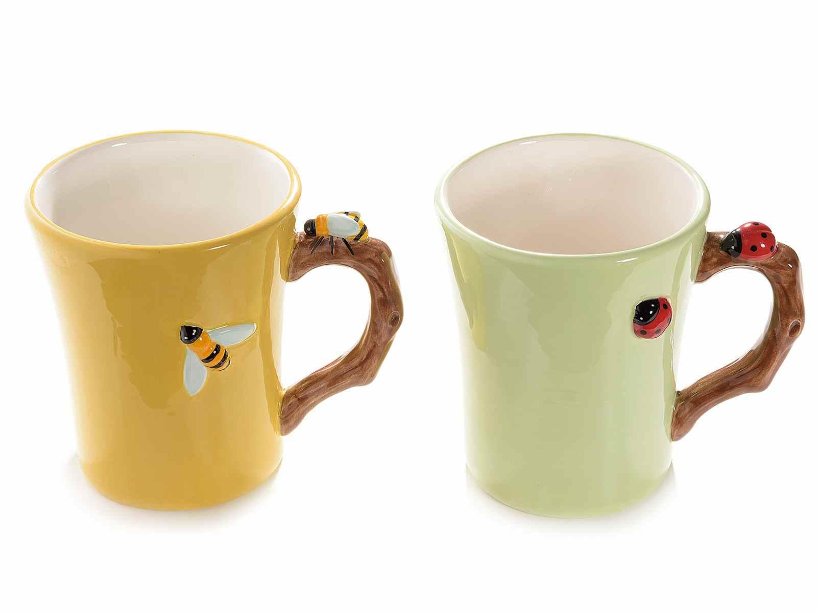Taza en ceramica con decoracion en relieve - Ceramica decoracion ...