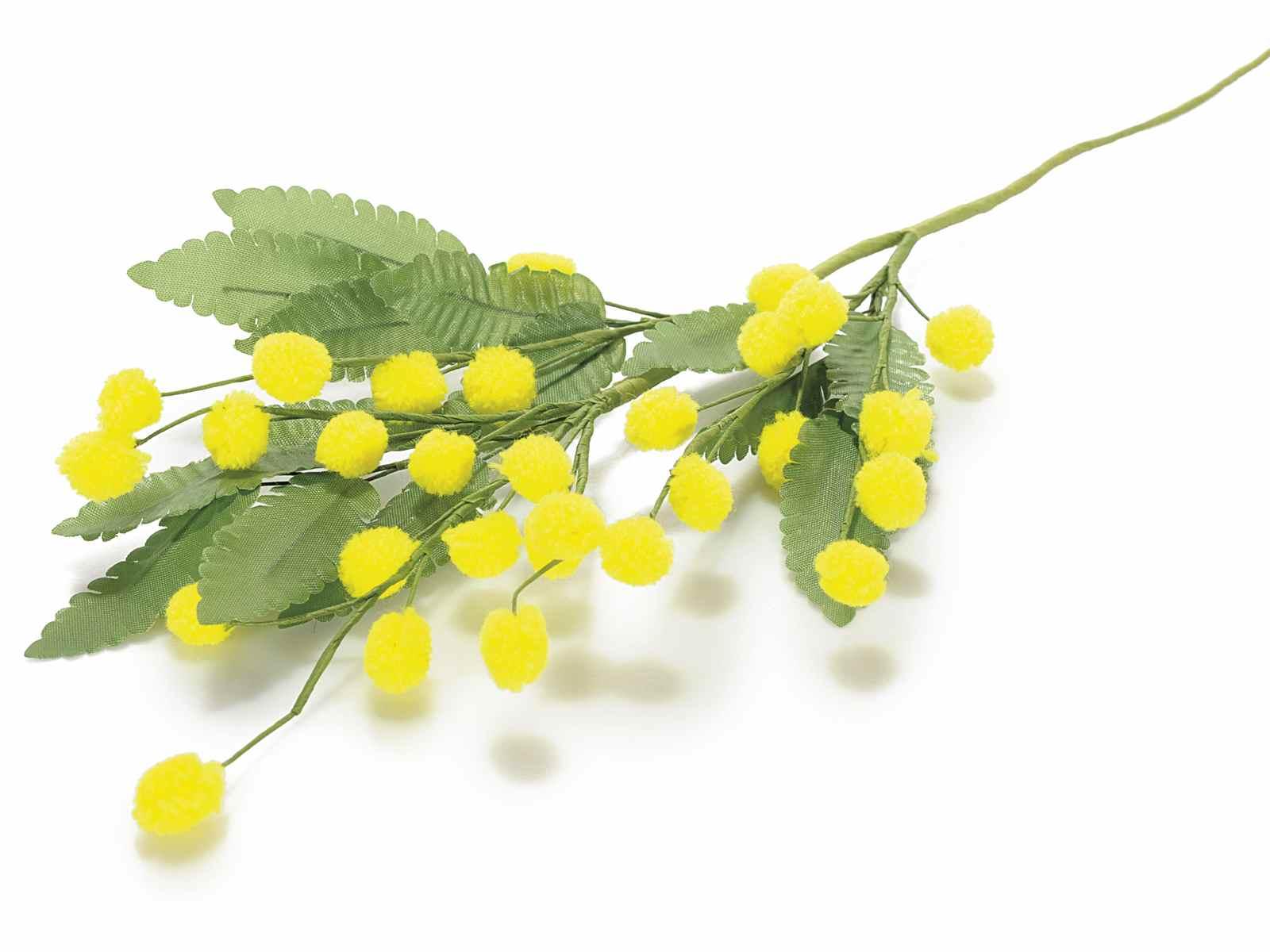 Bouquet De Mimosa Artificielle Avec Fleur De Laine 56 18 81 Art