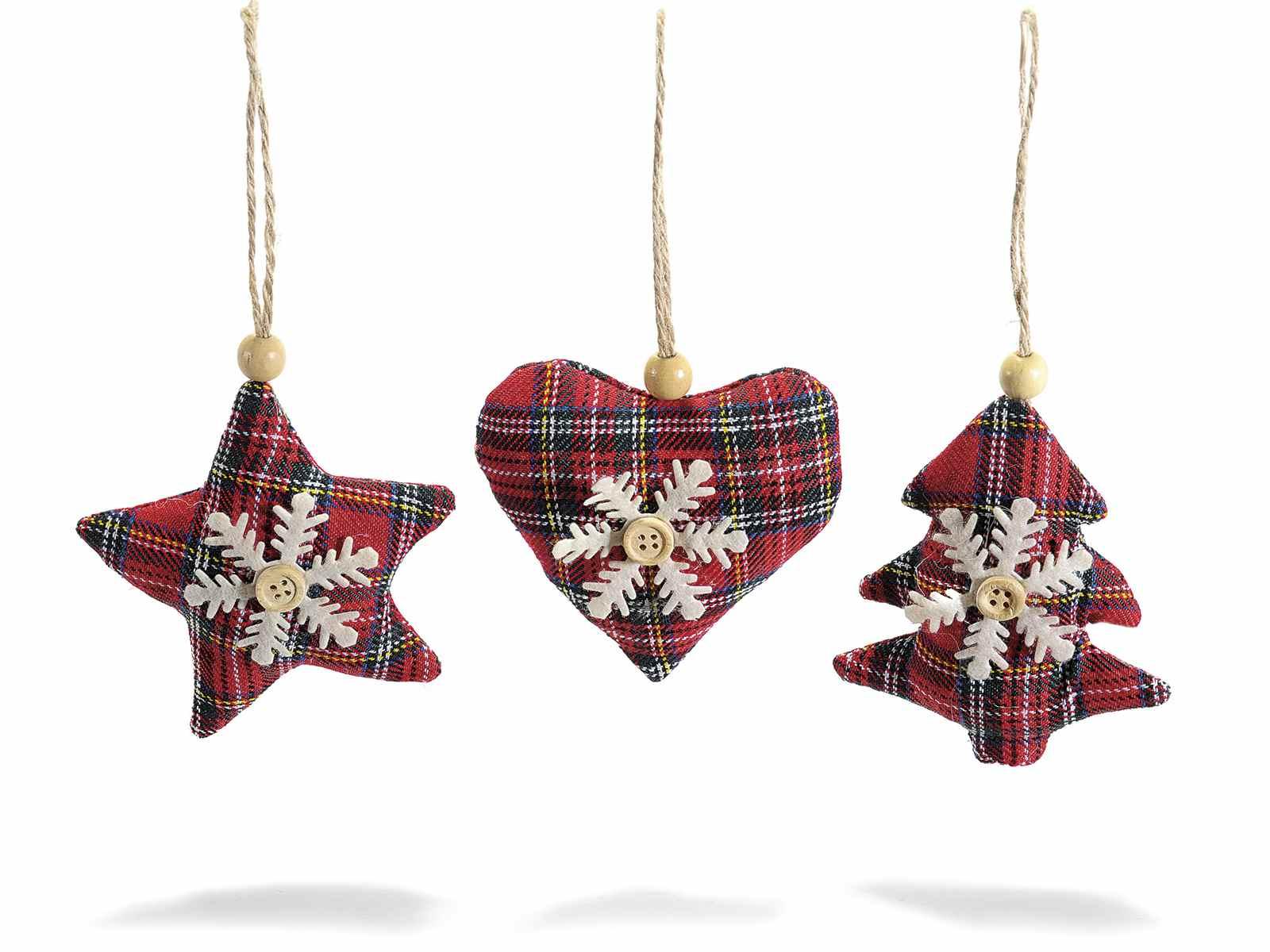 Amato Decorazione in stoffa scozzese imbottita da appendere (56.24.68  KK53