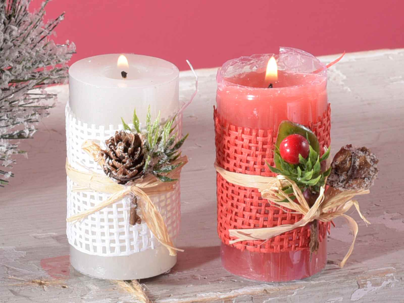 Decorare Candele Natale : Espositore 12 candele c decori natalizie in conf. singola 14.09.84