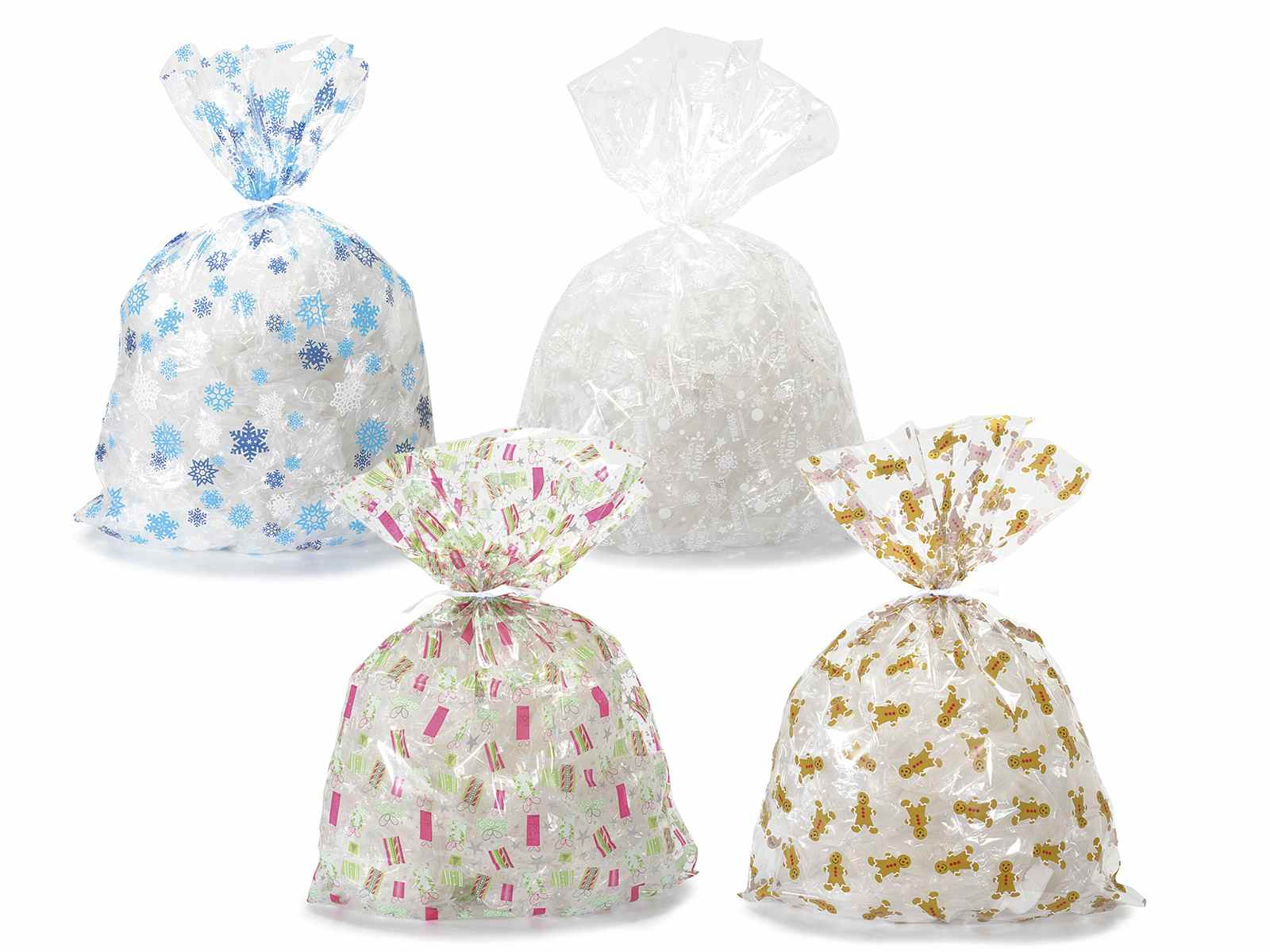 """Amato Conf. 40 sacchetti regalo in nylon trasparente """"Christmas"""" (54.29  FN32"""