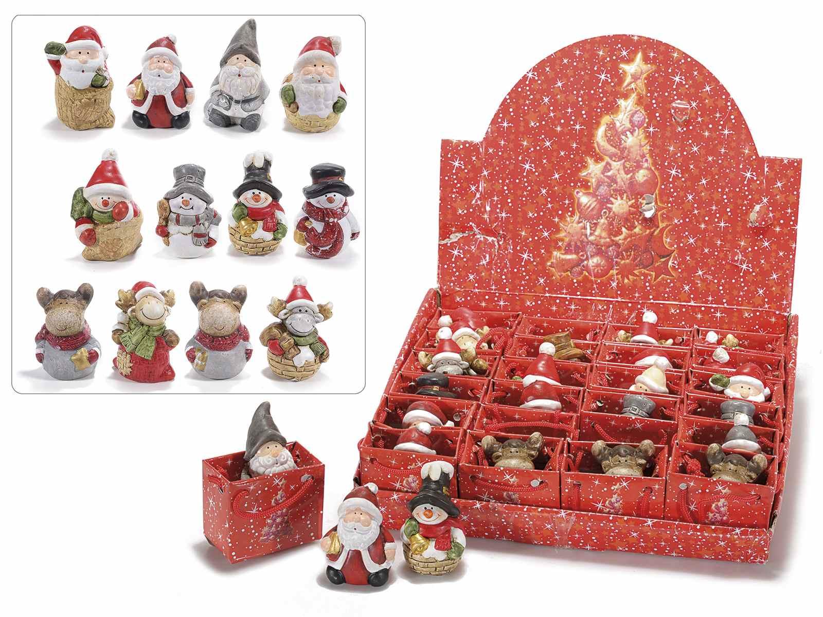 72b970ffe6c Personajes de Navidad de ceramica en bolsitas regalo (71.30.06 ...