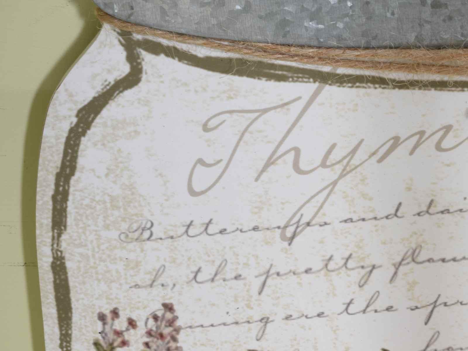 Quadro in legno a barattolo con decori a erba aromatica (51.24.18 ...