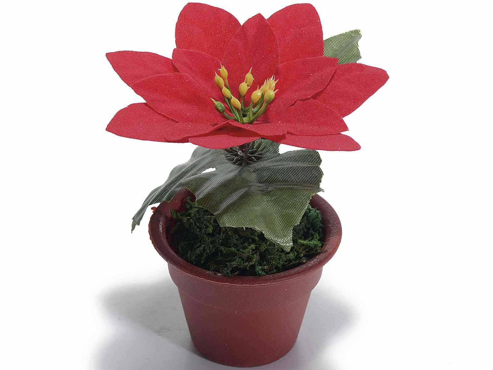 Stella Di Natale Artificiale.Vasetto Con Stella Di Natale Artificiale 54 32 47 Art