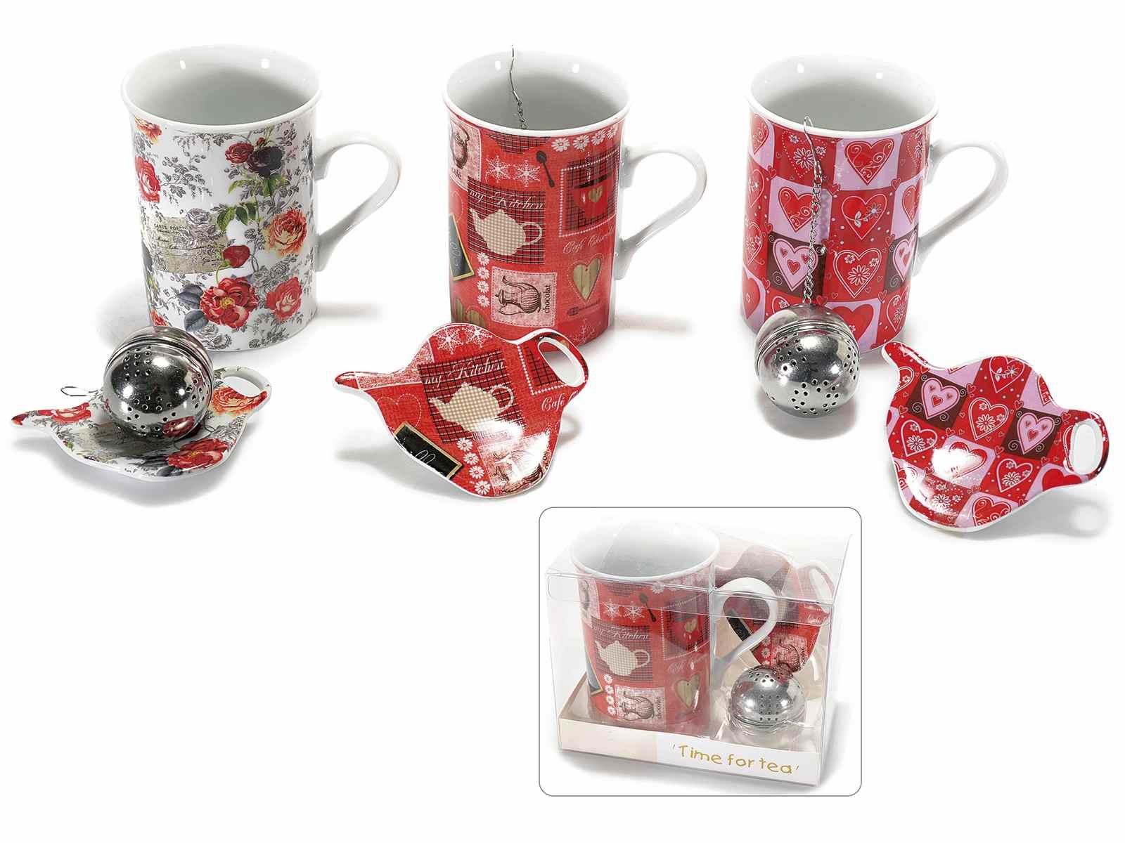 set tasse et soucoupe en porcelaine avec filtre en metal art from italy. Black Bedroom Furniture Sets. Home Design Ideas