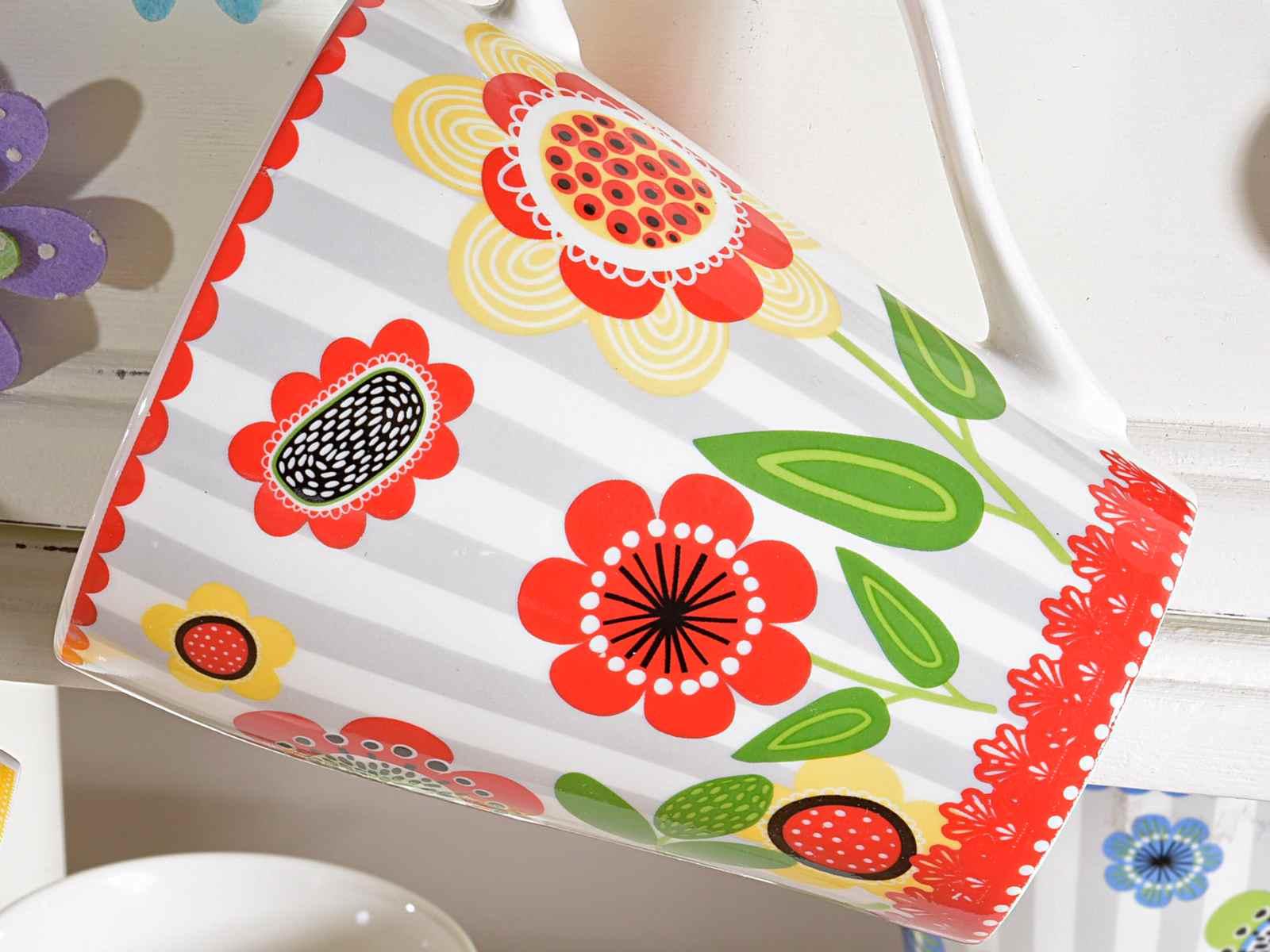 Taza mug de ceramica con flores de color art - Colores de ceramica ...