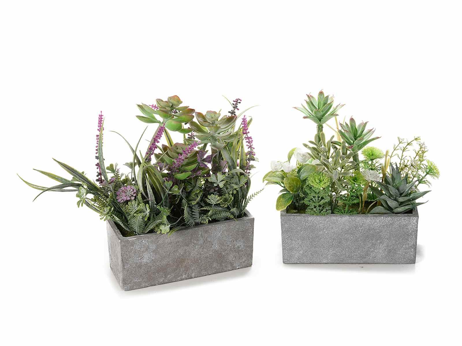 Piante Grasse Piccole Prezzi composizione piante grasse artificiali c/vaso effetto pietra