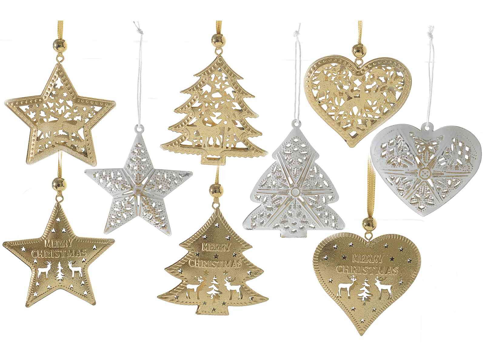 metal xmas decorations to hang