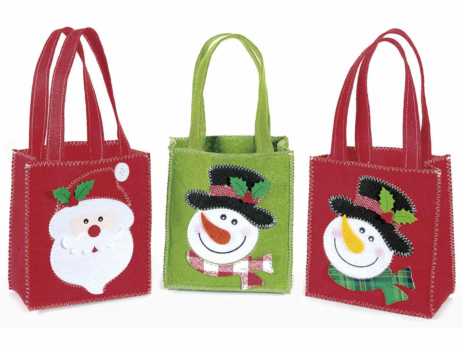 christmas felt gift bags
