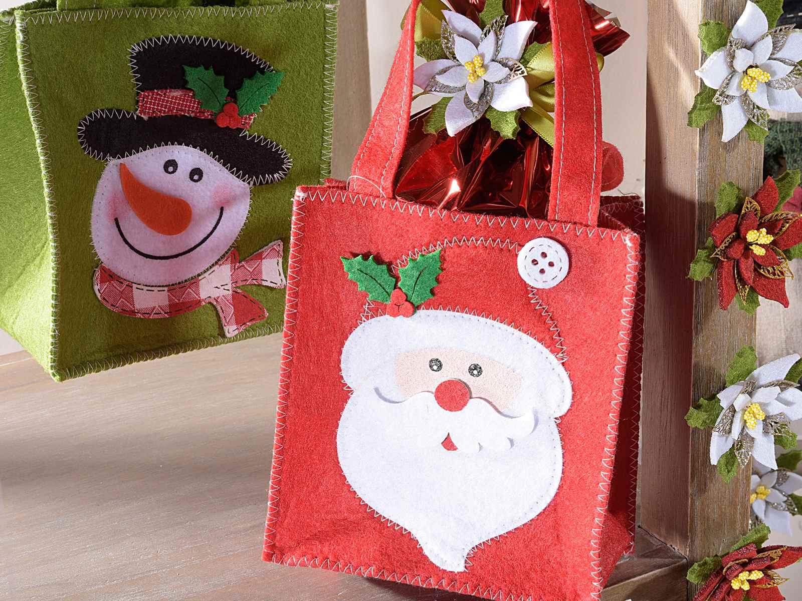 christmas felt gift bags christmas felt gift bags