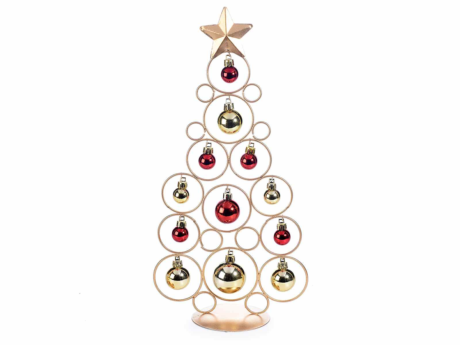 sapin noel metal Metal gold Christmas tree with 12 balls (53.19.25)   Art From Italy sapin noel metal
