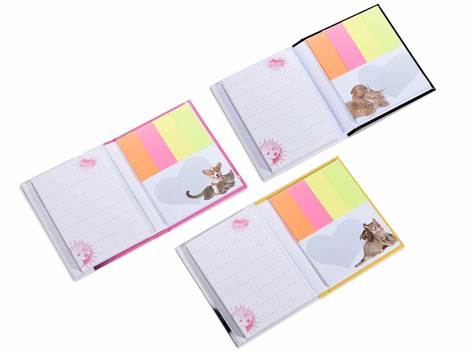 Set Memo With Self Adhesive Ticket Block Notes Rigid Cover