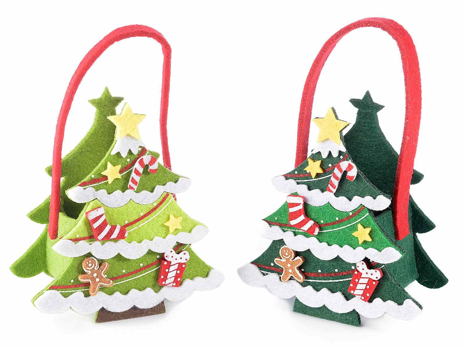 Christmas tree felt bag (56.30.94) - Art From Italy