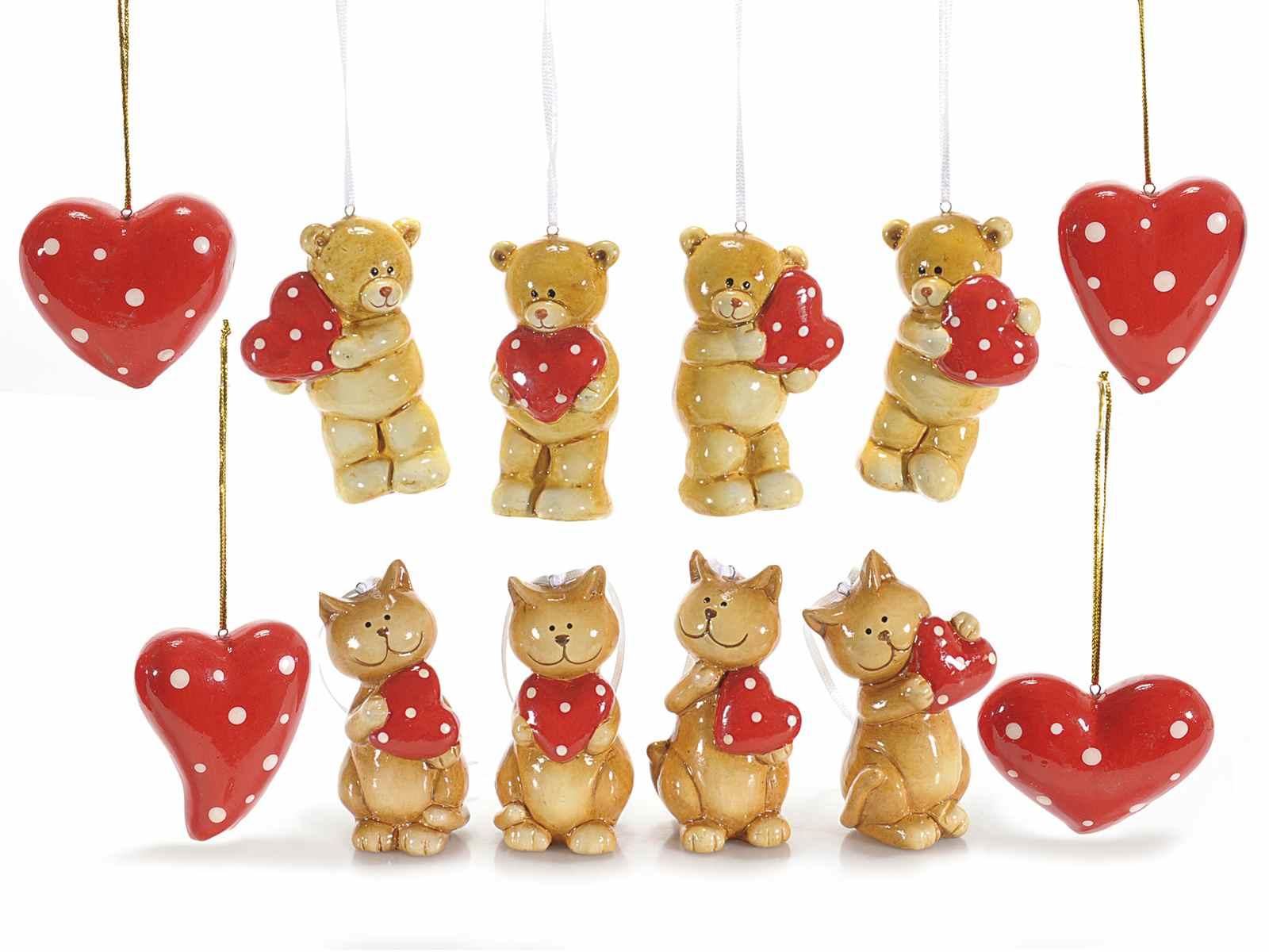 Decoracion corazones de amor de ceramica para colgar 71 - Ceramica decoracion ...