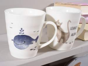 Grossista tazze mug decoro animaletto